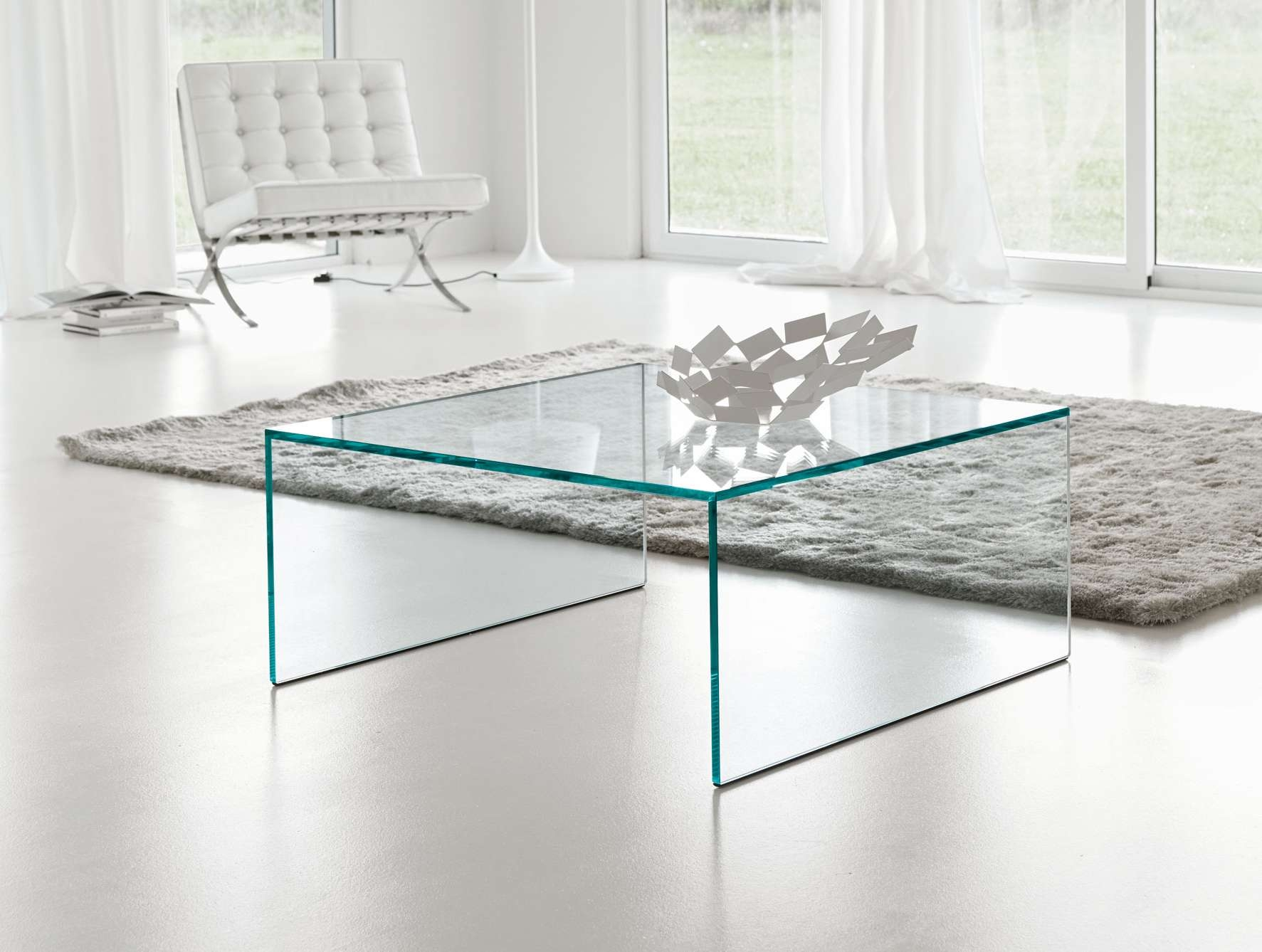 Nella Vetrina Tonelli Eden Modern Italian Square Coffee Table Pertaining To Recent Square Glass Coffee Tables (View 13 of 20)