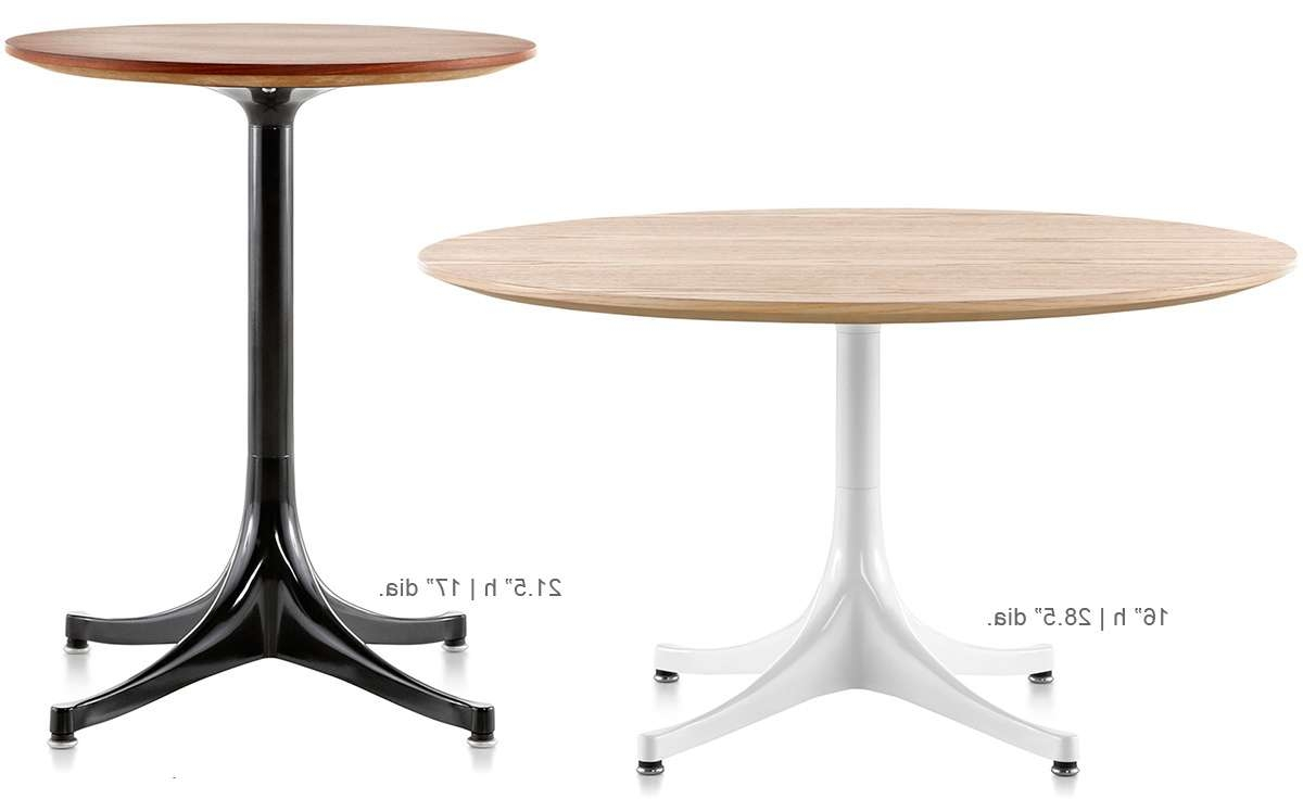 Nelson Pedestal Side Table – Hivemodern Regarding Popular Nelson Coffee Tables (Gallery 1 of 20)