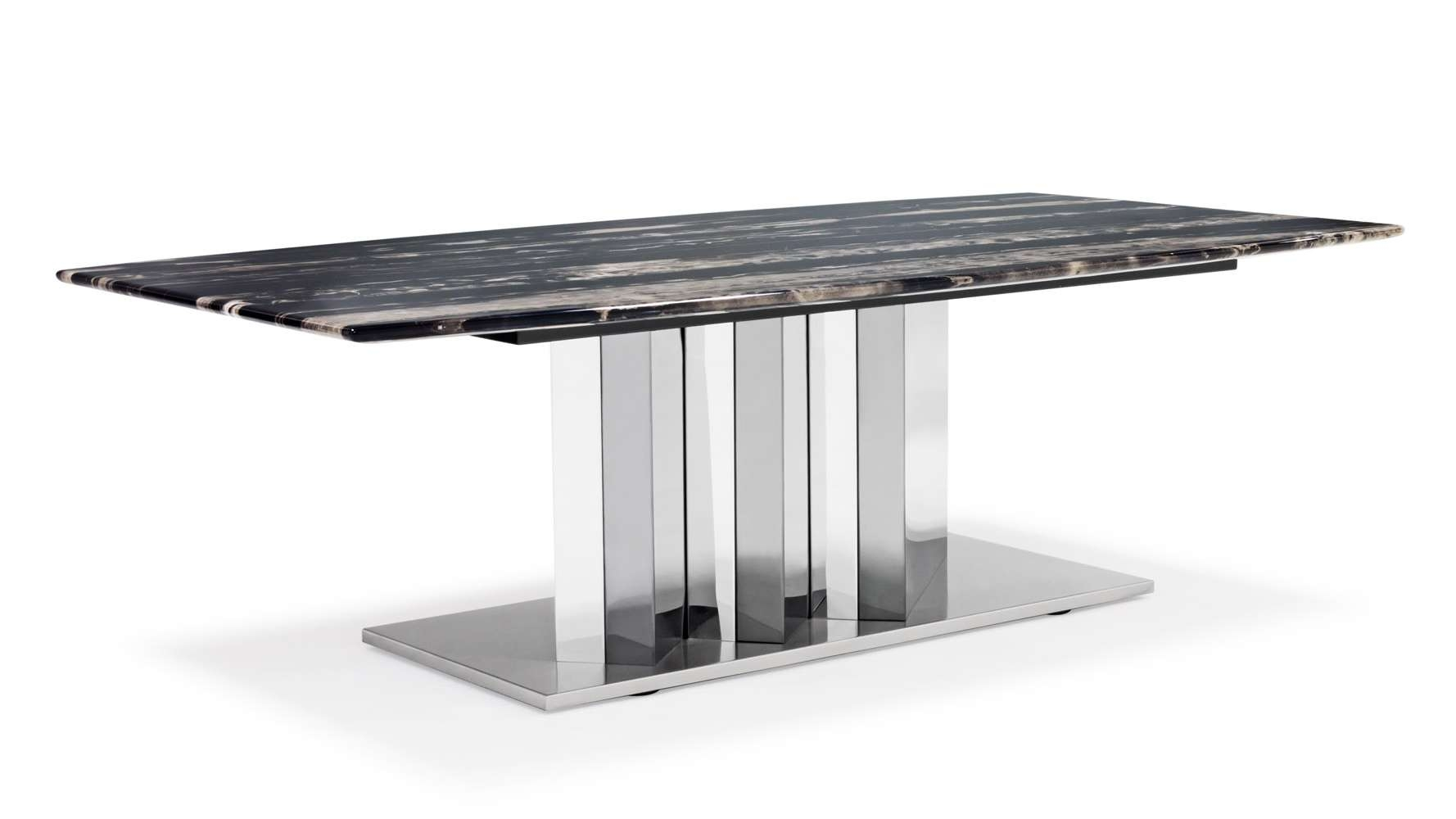 Nero Black And White Marble Coffee Table With Polished Stainless Inside Current Black And Grey Marble Coffee Tables (Gallery 20 of 20)
