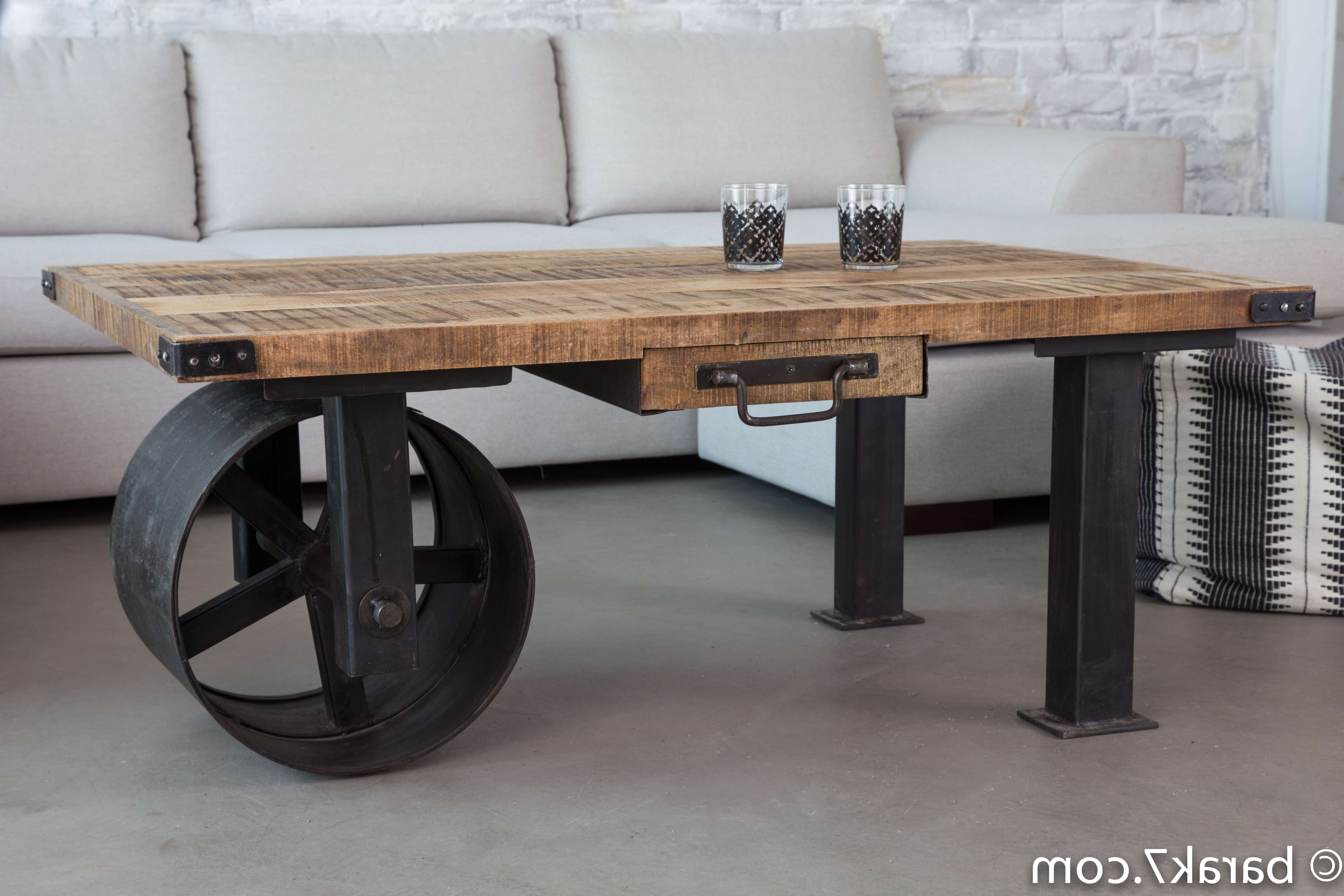 New Industrial Style Furniture Range From Barak'7 – The Art Of Inside Well Known Quirky Coffee Tables (Gallery 9 of 20)