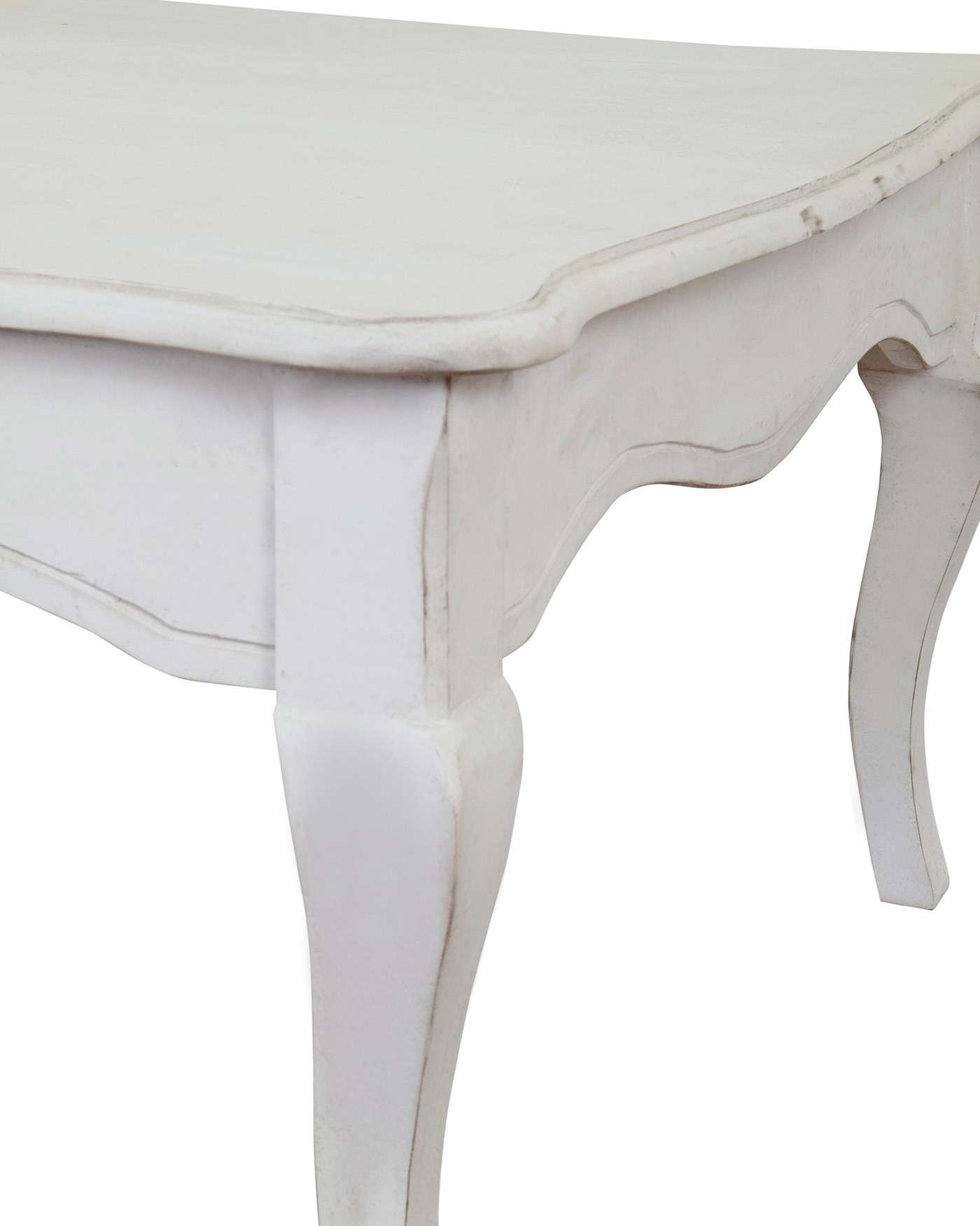 New Orleans Distressed White Vintage Coffee Table With Cabriole For Most Recent White Retro Coffee Tables (View 9 of 20)