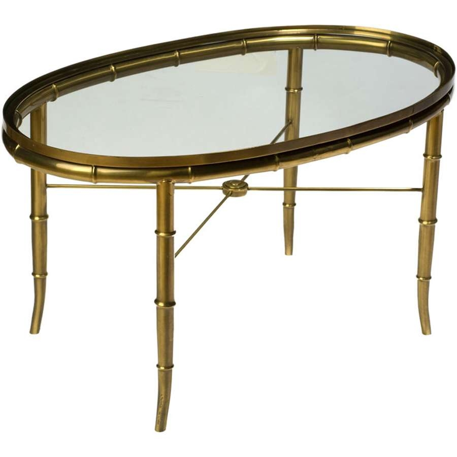 Newest Antique Brass Glass Coffee Tables Intended For Coffee Table : Awesome Brass Glass Coffee Table Upholstered Coffee (View 15 of 20)
