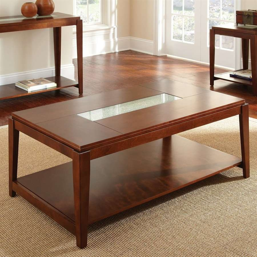 Newest Birch Coffee Tables With Shop Steve Silver Company Ice Birch Coffee Table At Lowes (View 12 of 20)