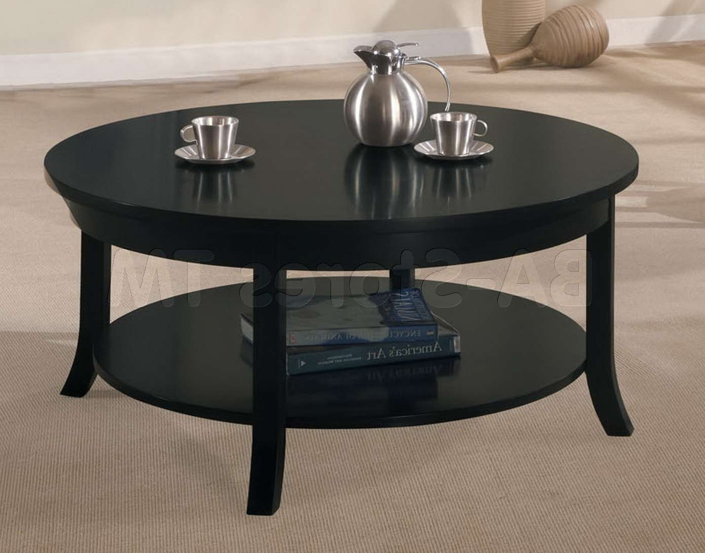 Newest Black Coffee Tables Intended For Coffee Table : Black Coffee And End Table Sets Kit4en Com Round (View 12 of 20)