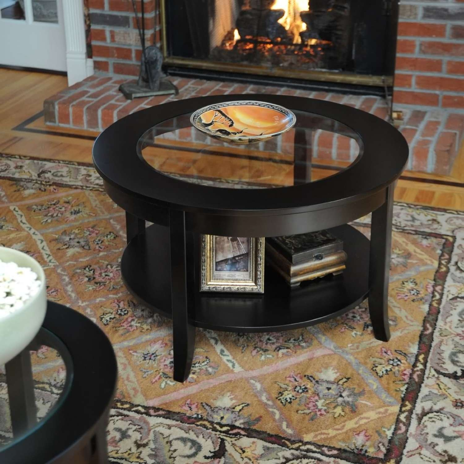 Newest Black Wood And Glass Coffee Tables Pertaining To Wonderful Small Round Glass Coffee Table Design (View 13 of 20)