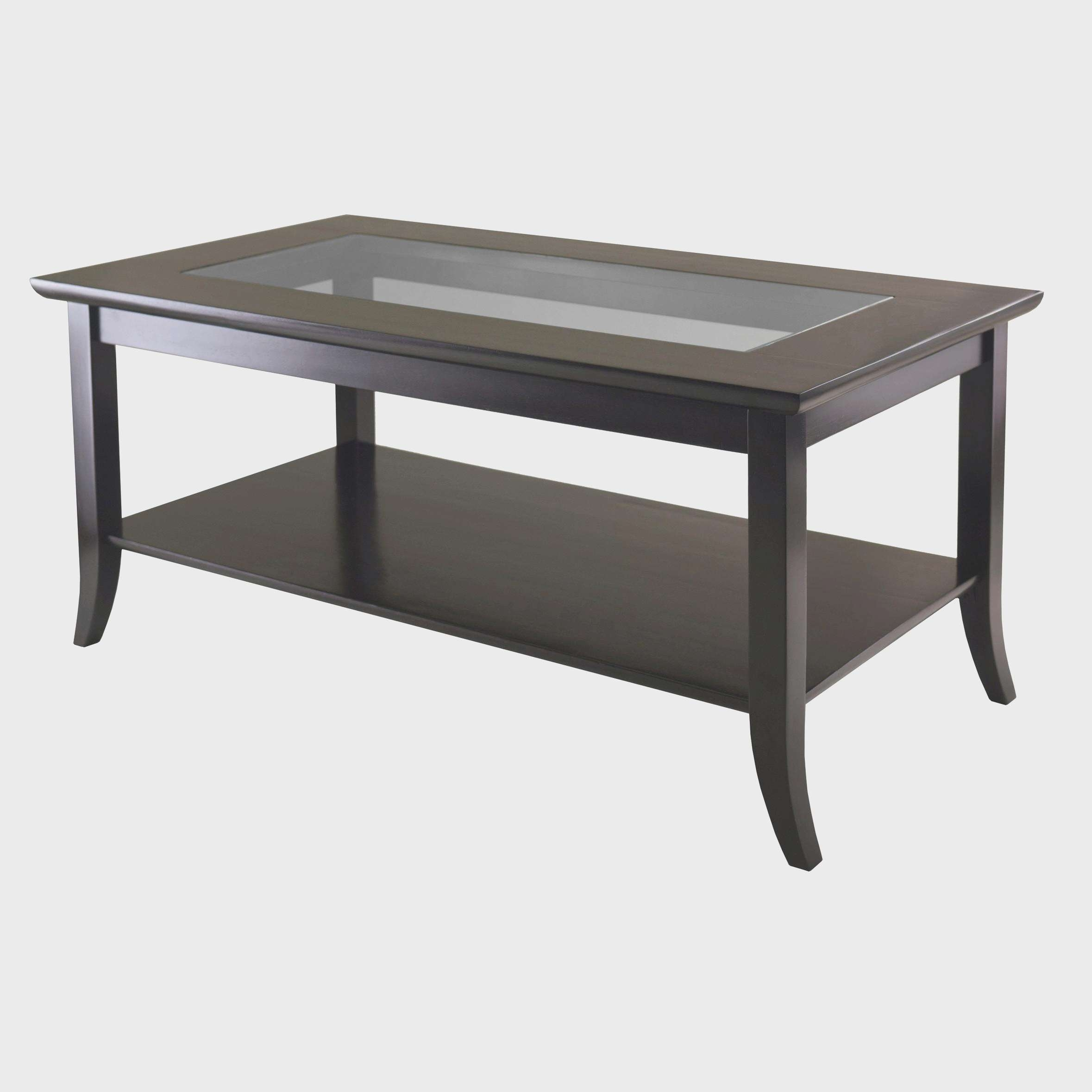 Newest Black Wood And Glass Coffee Tables With Regard To Coffee Tables : Table Ottoman Coffee Oval Walnut And Side Tables (View 10 of 20)