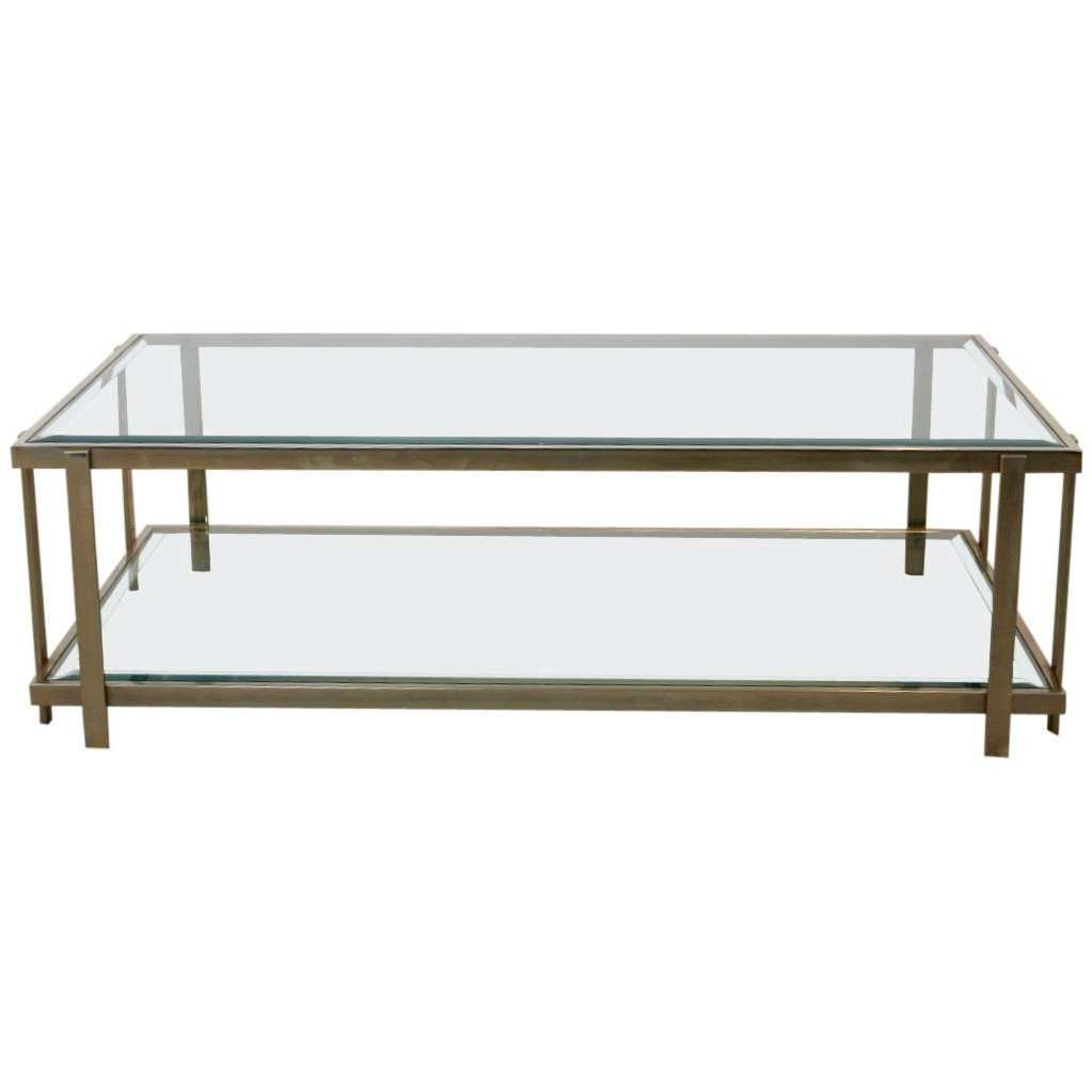 Newest Bronze And Glass Coffee Tables With Regard To Bronze Glass Coffee Table / Coffee Tables / Thippo (View 16 of 20)