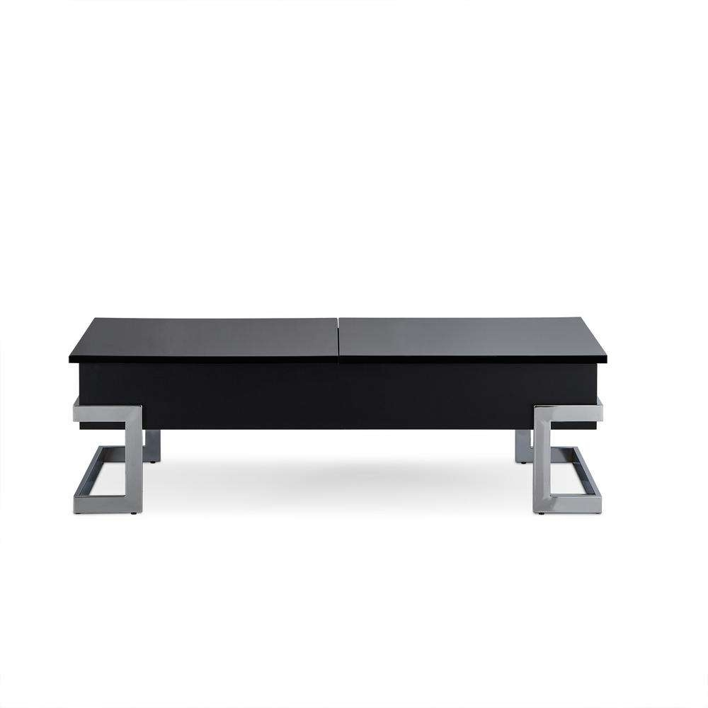 Newest Chrome And Wood Coffee Tables For Acme Furniture Calnan Black And Chrome Coffee Table 81855 – The (View 13 of 20)