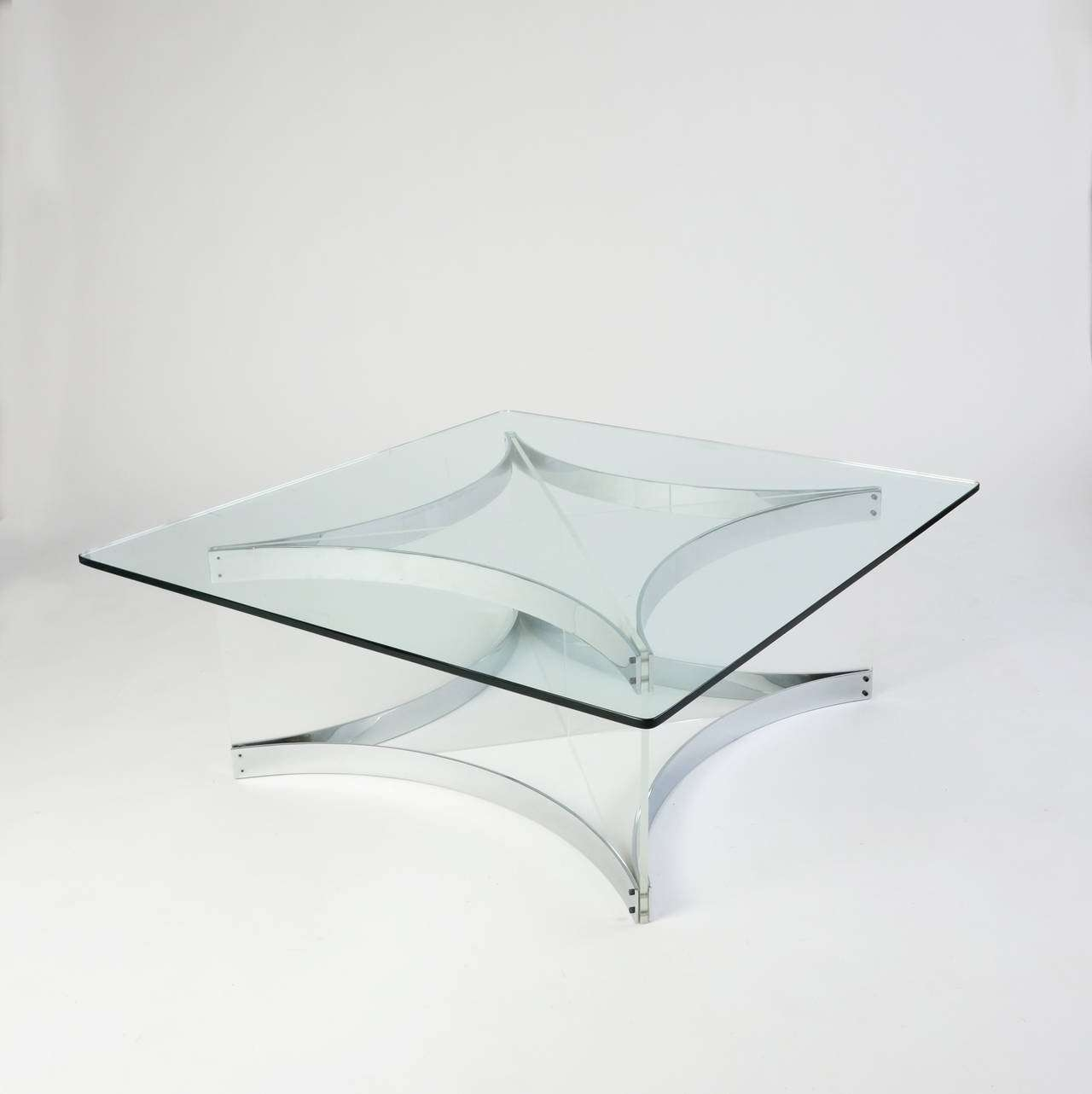 Newest Chrome Coffee Tables Within Lucite And Chrome Coffee Tablealessandro Albrizzi For Sale At (View 15 of 20)