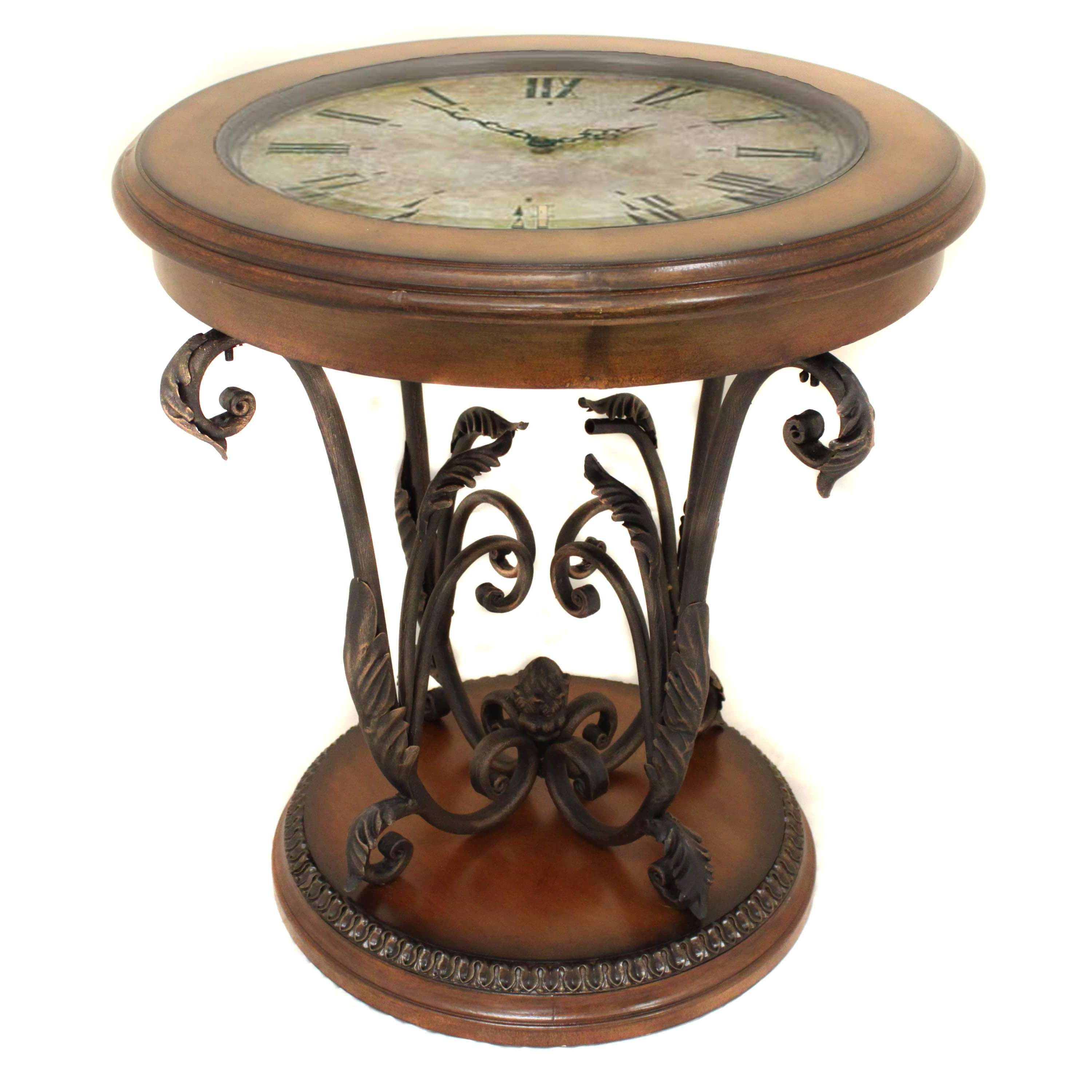 Newest Clock Coffee Tables Round Shaped Pertaining To Casa Cortes Designer Round Clock Coffee And End Table – Free (View 18 of 20)