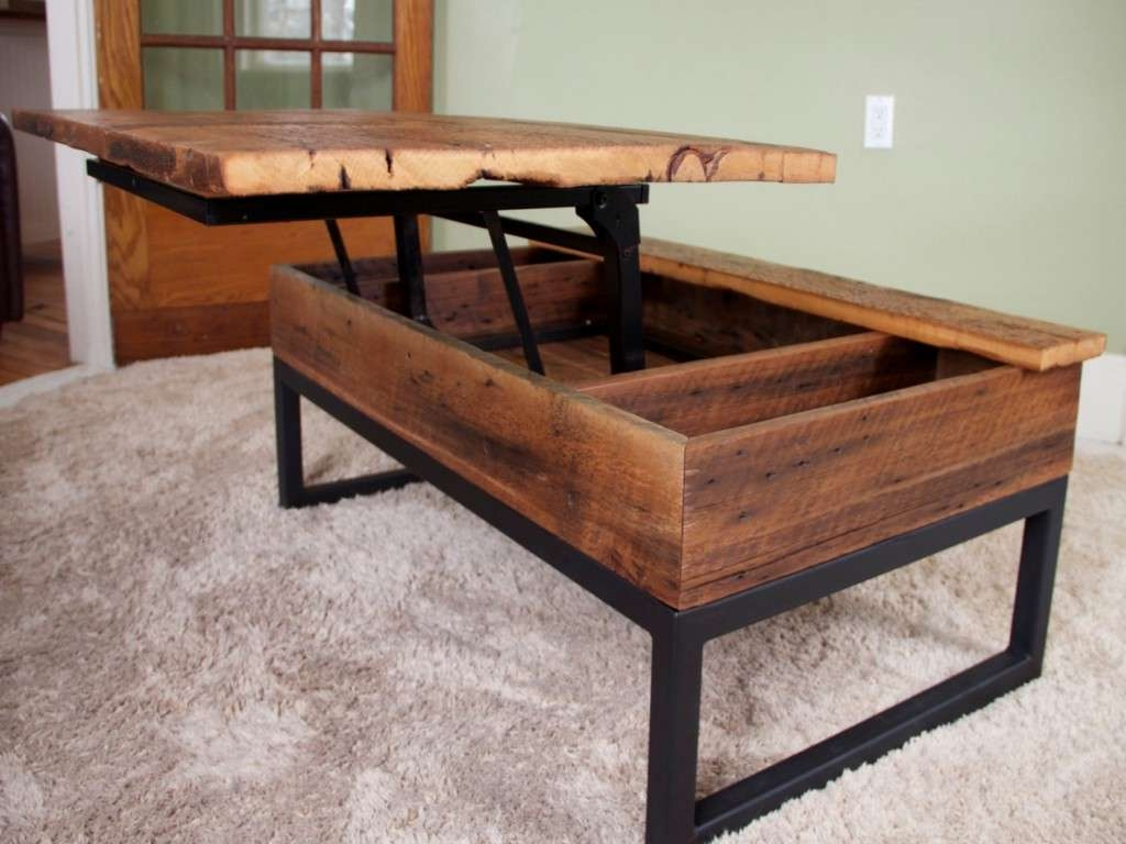 Newest Coffee Tables With Rising Top Regarding Coffee Tables : Top Solid Wood Lift Coffee Table Ideas Piece Set (View 6 of 20)