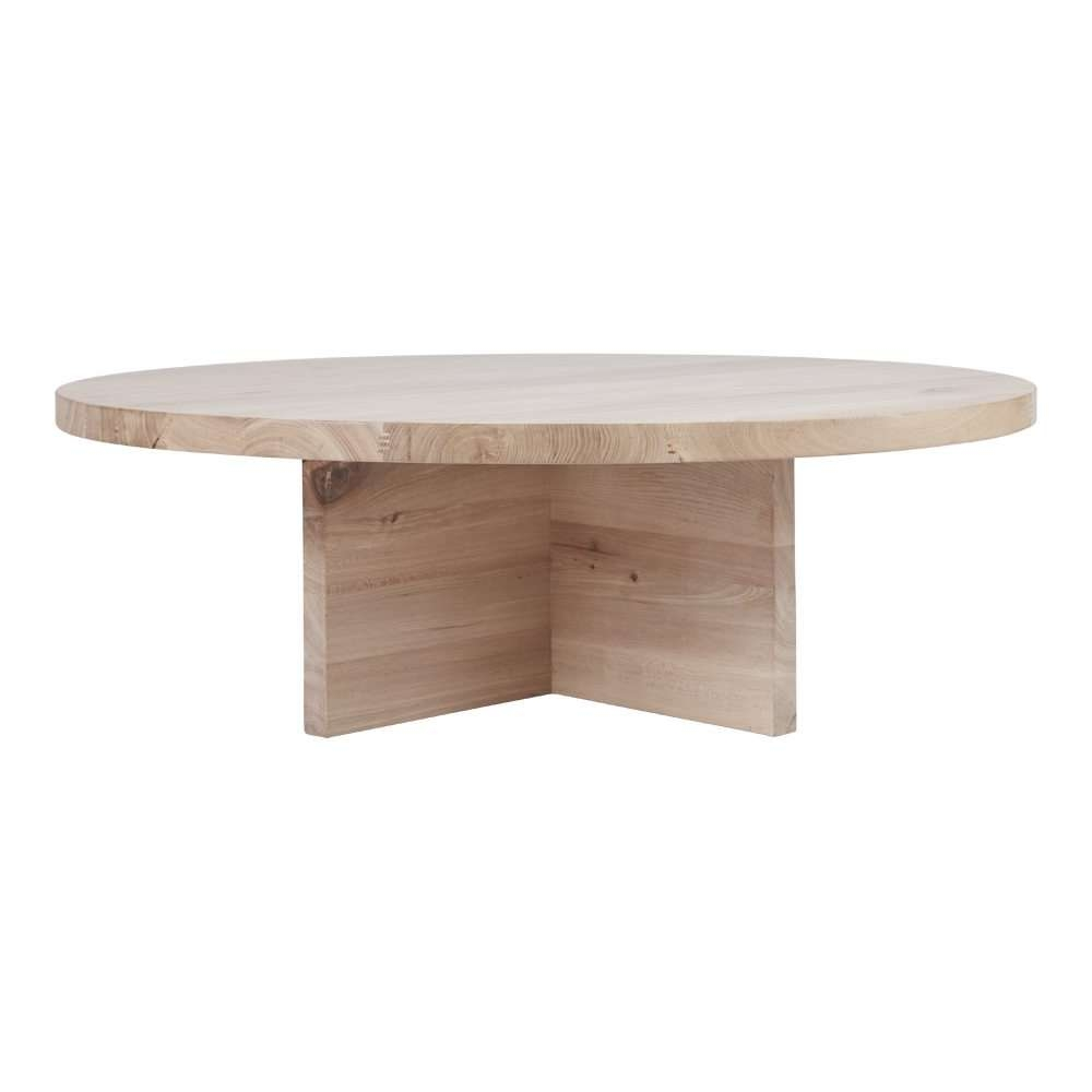 Newest Contemporary Oak Coffee Table Regarding Contemporary Round Oak Coffee Table – Designer Accent Tables (View 11 of 20)