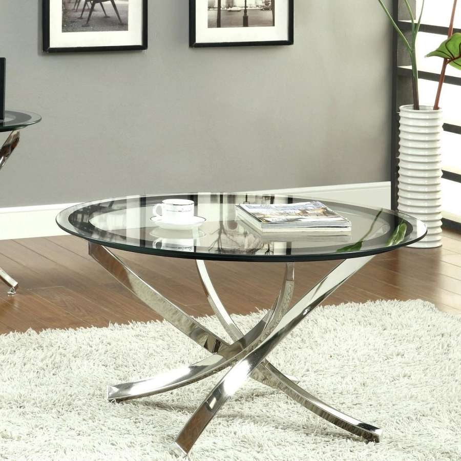 Newest Contemporary Round Coffee Tables Within Coffee Table : Contemporary Round Coffee Table Glass With Storage (View 6 of 20)