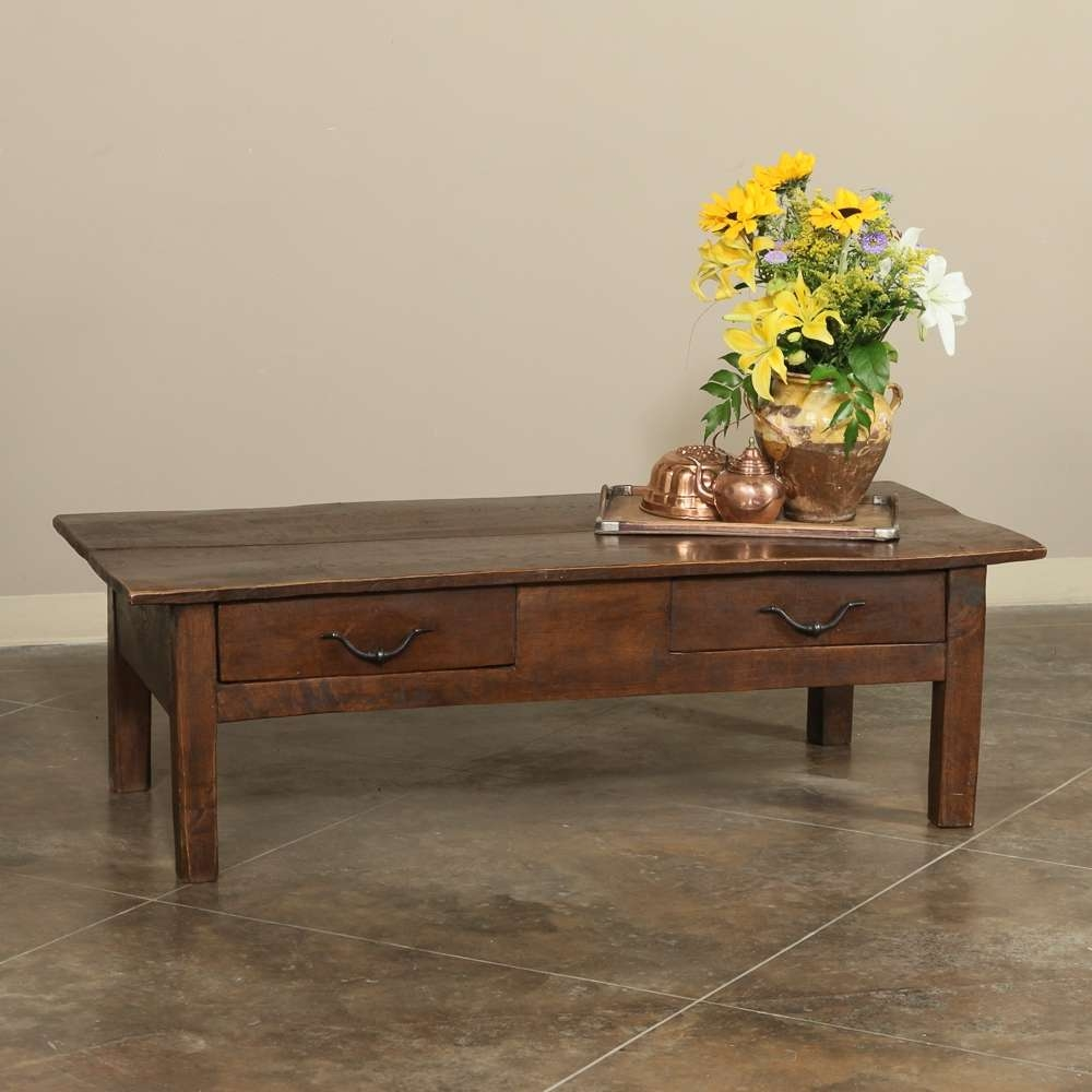 Newest Country French Coffee Tables Throughout 19th Century Rustic Country French Coffee Table – Inessa Stewart's (View 17 of 20)