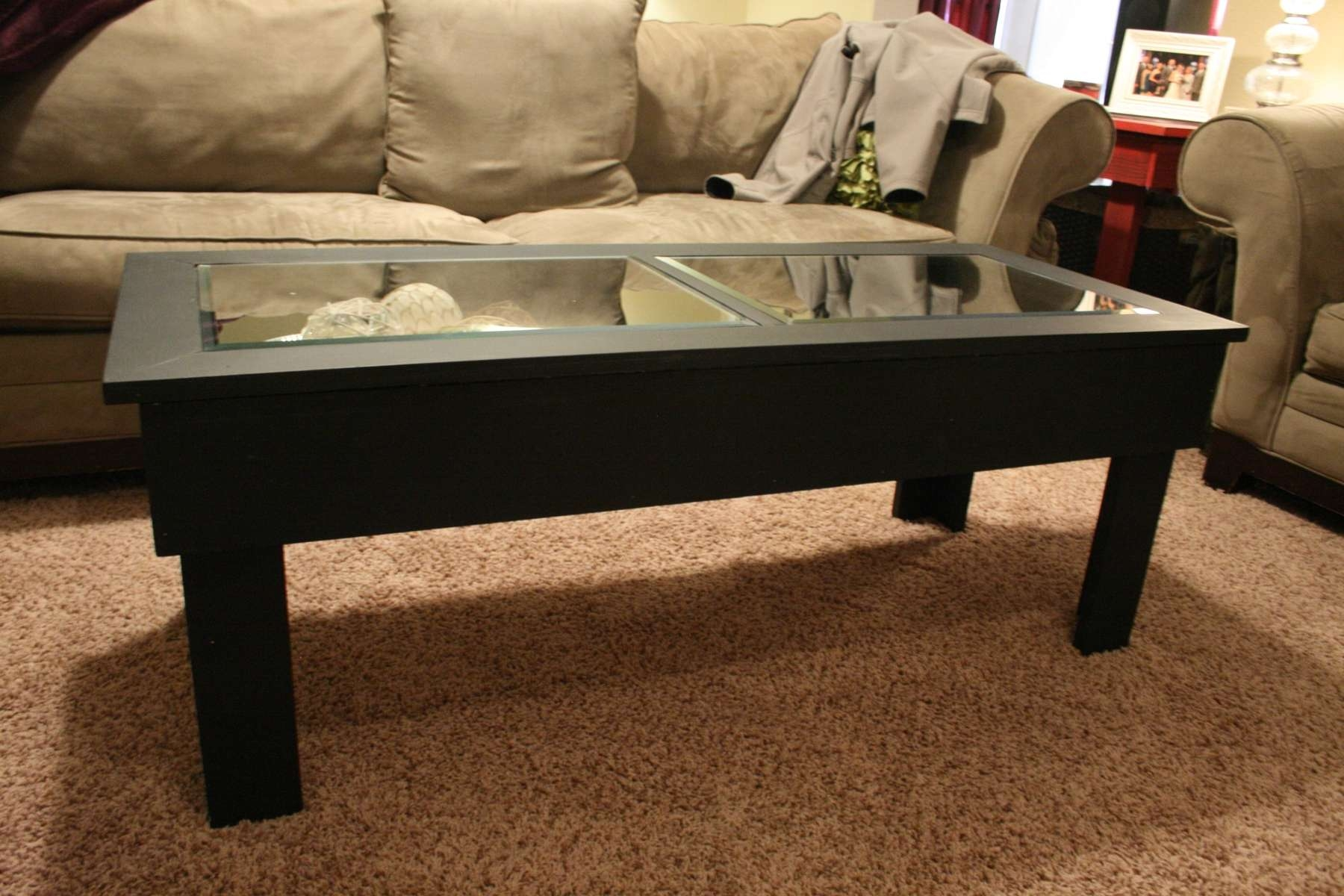 Newest Dark Brown Coffee Tables Intended For Coffee Table : Awesome White Wood Coffee Table Brass Coffee Table (View 11 of 20)