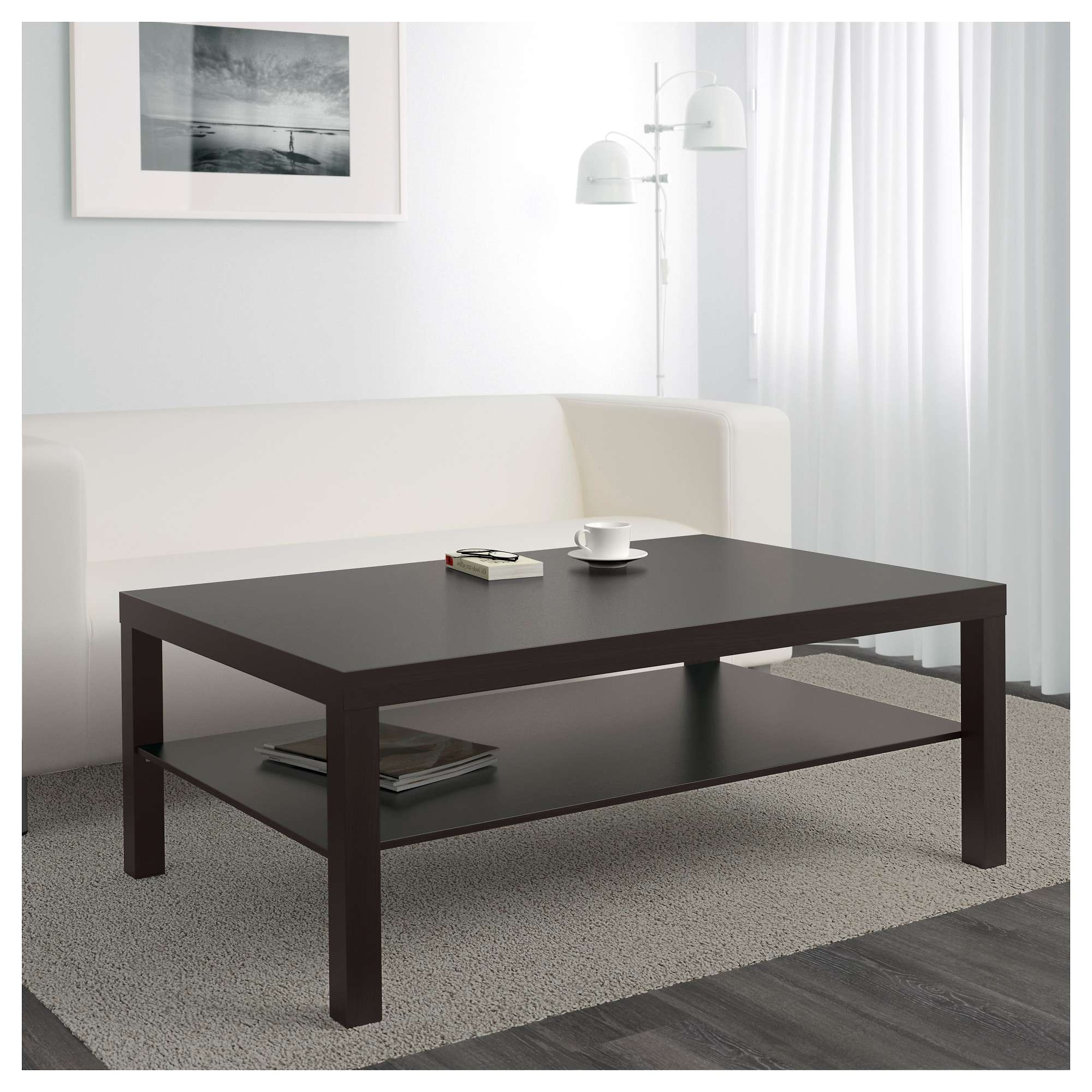 Newest Dark Brown Coffee Tables Within Lack Coffee Table – Black Brown – Ikea (View 20 of 20)