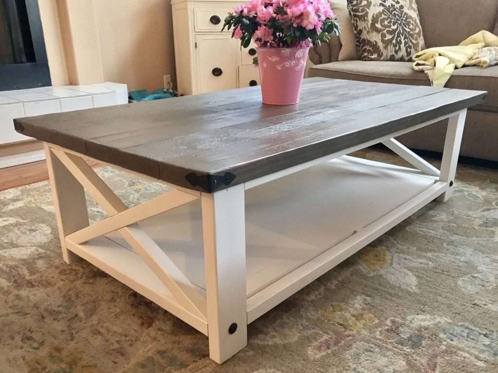 Newest Elegant Rustic Coffee Tables For Furniture: White Rustic Coffee Table Elegant Chunky White Rustic (View 10 of 20)