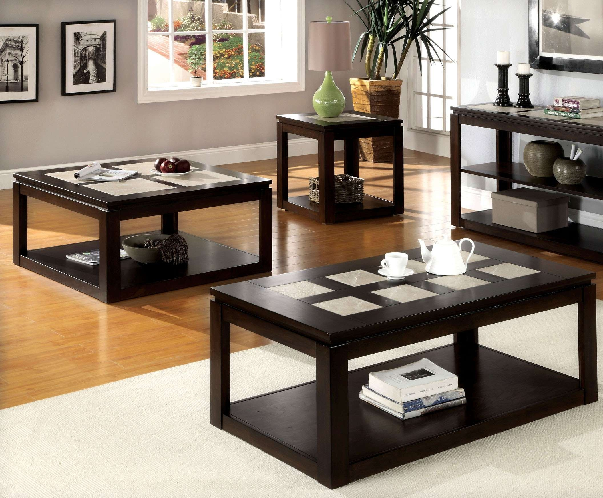 Newest Espresso Coffee Tables Intended For Coffee Table: Terrific Espresso  Coffee Table Set Oval Espresso