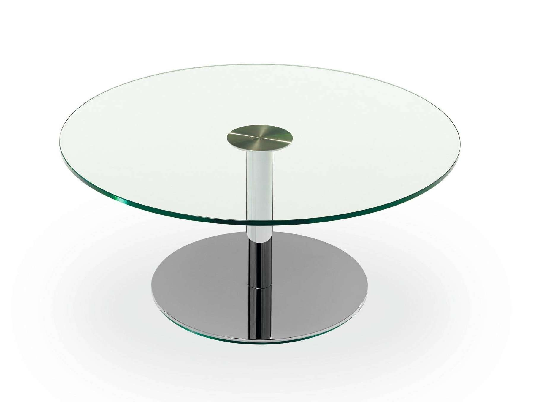Newest Glass Circular Coffee Tables Regarding Coffee Tables : Round Glass  Side Table Ikea Small Ebay