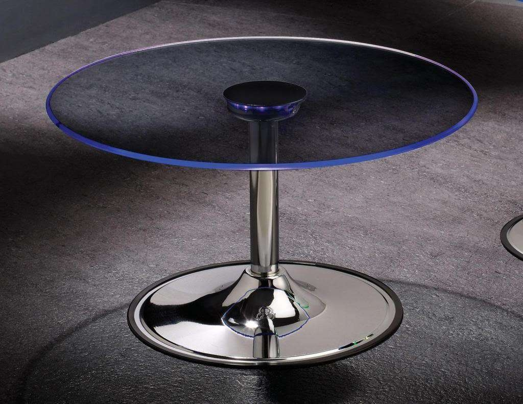 Newest Led Coffee Tables Within Transitioning 6 Color Led Coffee Cocktail Table With Glass Top (View 12 of 20)
