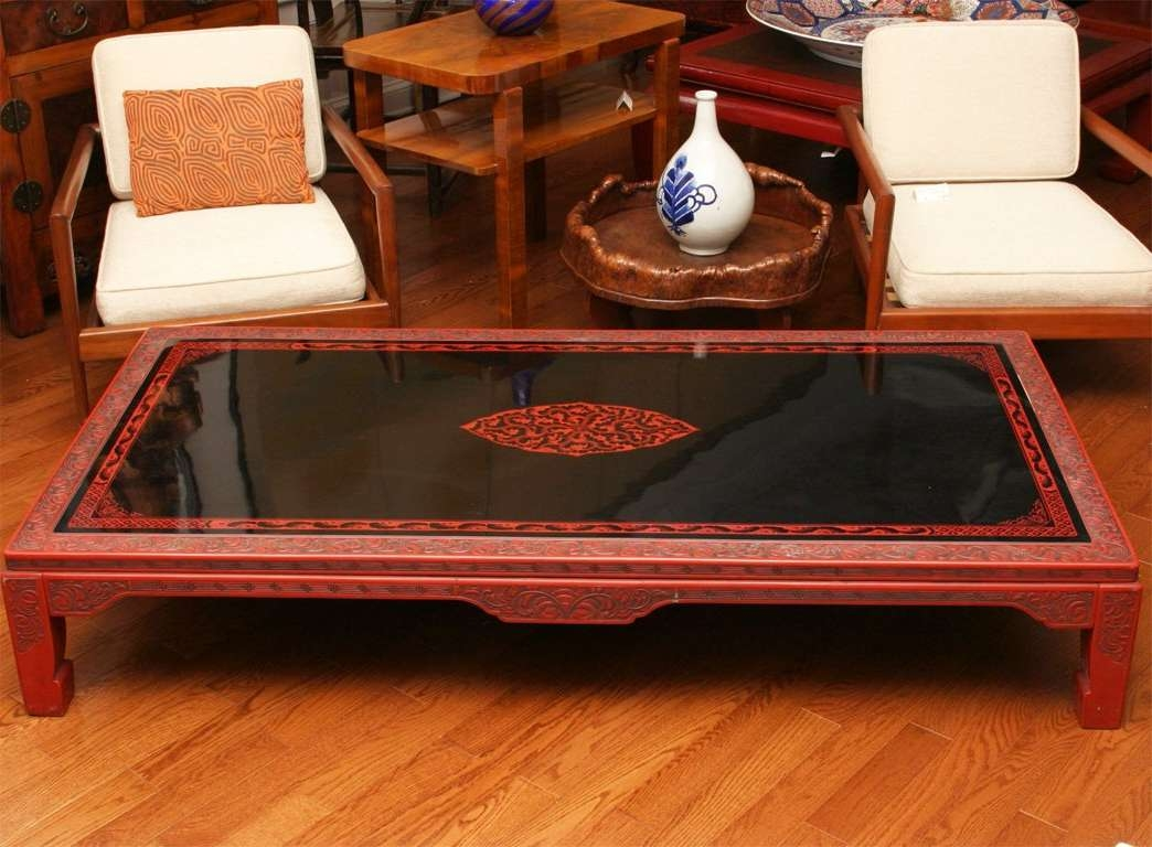Newest Low Japanese Style Coffee Tables Intended For Japanese Lacquer Coffee Table (View 13 of 20)