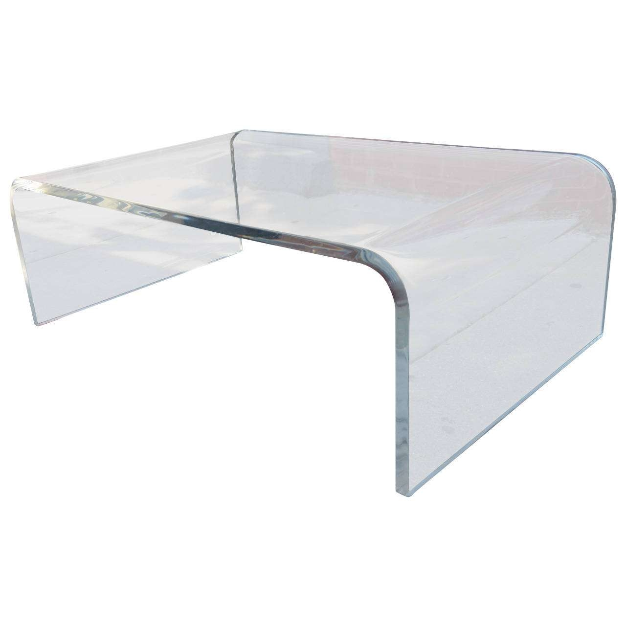 Newest Perspex Coffee Table For Coffee Tables : Furniture Square Clear Adair Acrylic Coffee Table (View 13 of 20)