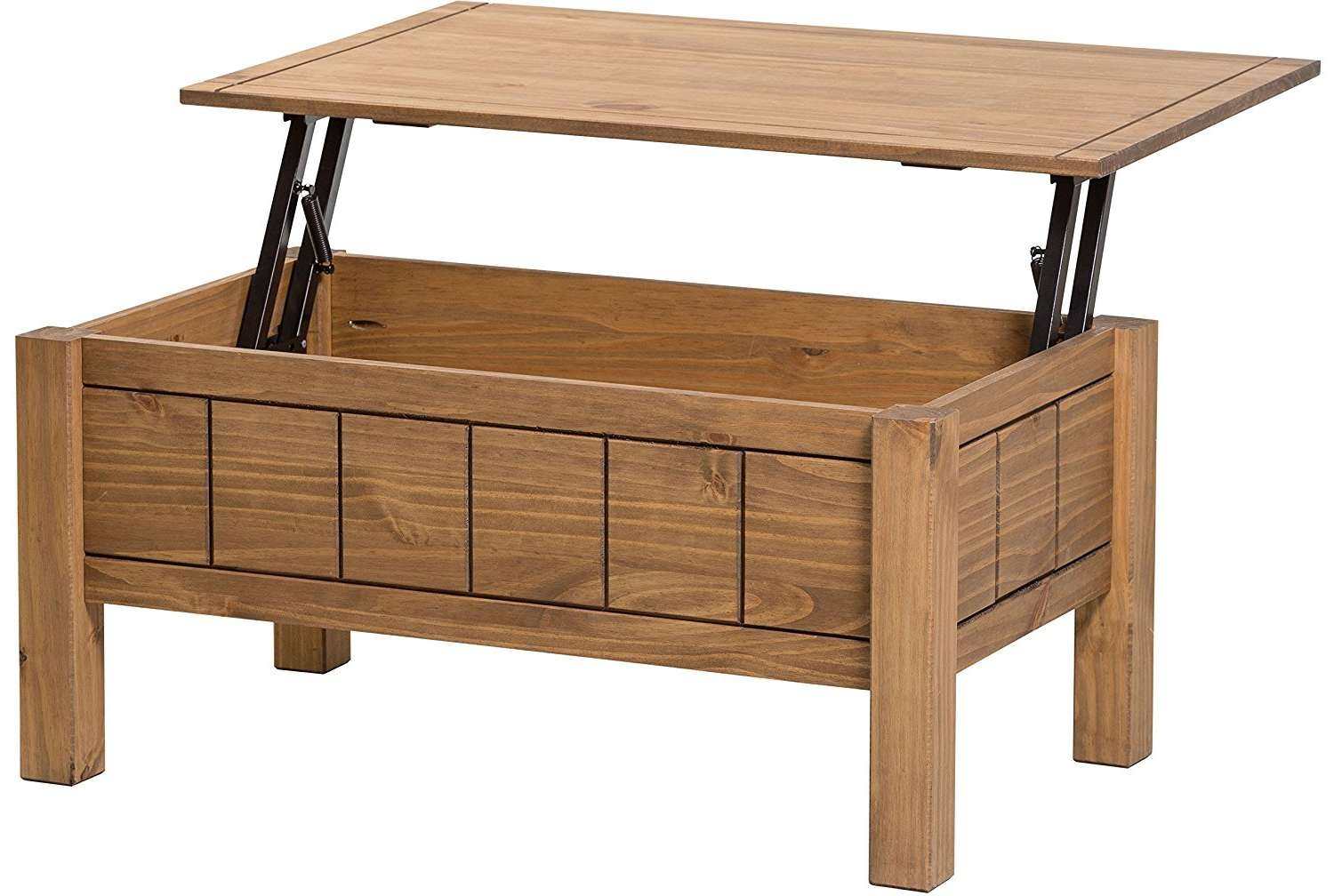 Newest Pine Coffee Tables With Storage Intended For Coffee Tables : Beautiful Corona Lift Up Coffee Table With Storage (View 16 of 20)