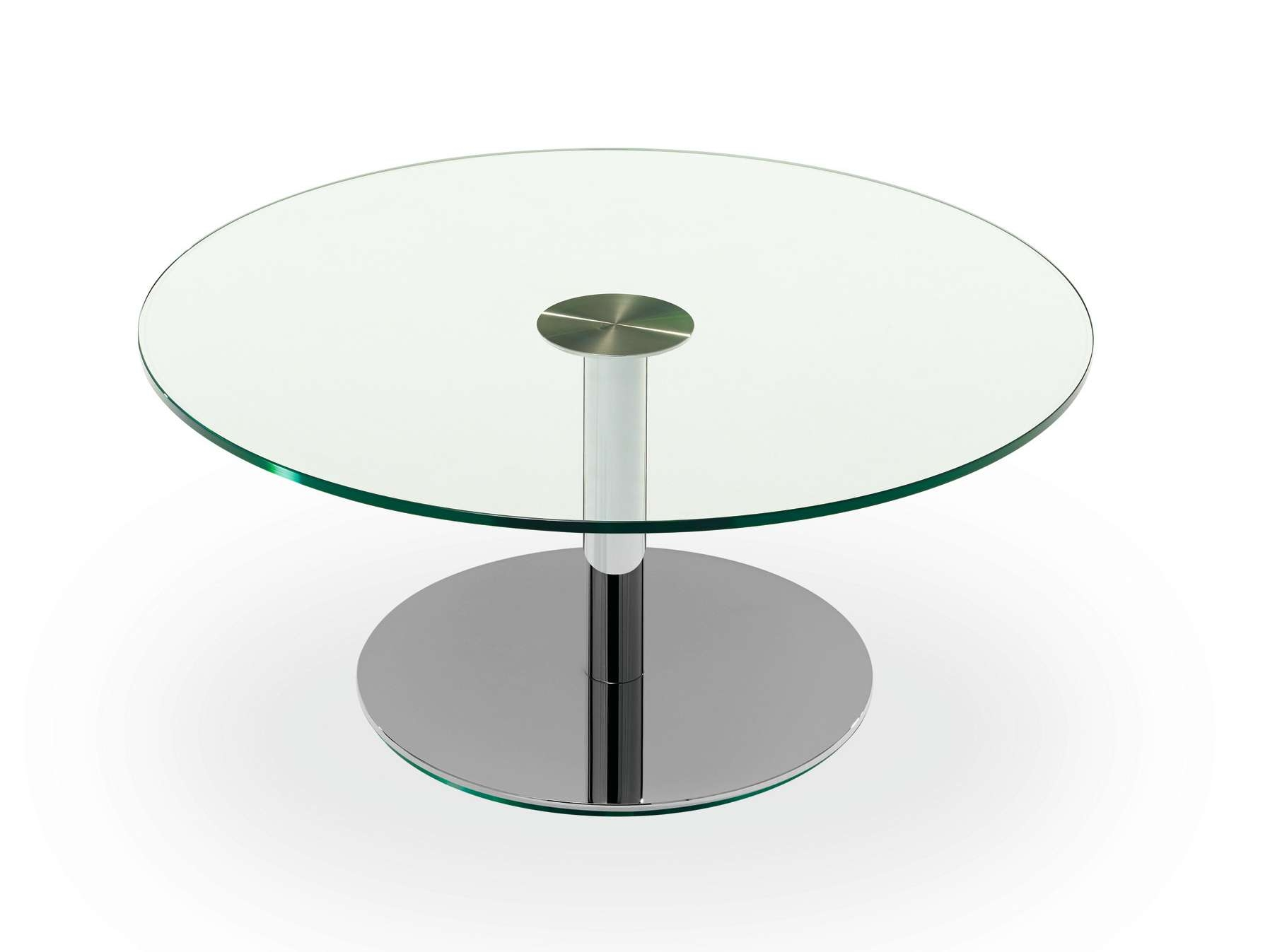 Newest Round Glass Coffee Tables In Decorations : Creative Glass Coffee Table With Iron Base Awesome (View 15 of 20)