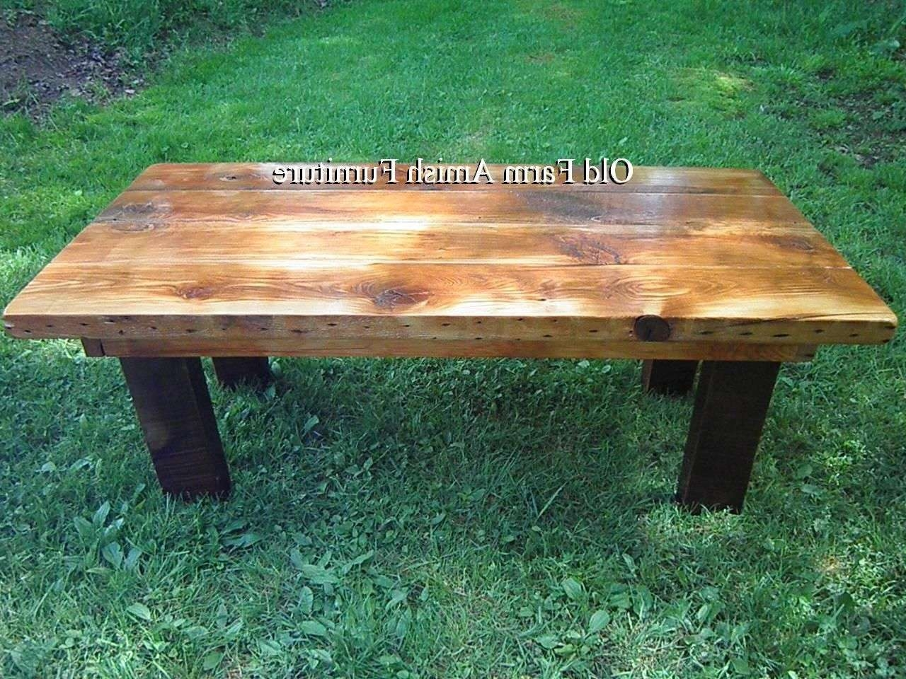 Newest Rustic Barnwood Coffee Tables Throughout Hand Crafted Reclaimed Barnwood Coffee Table & End Tablesold (View 13 of 20)