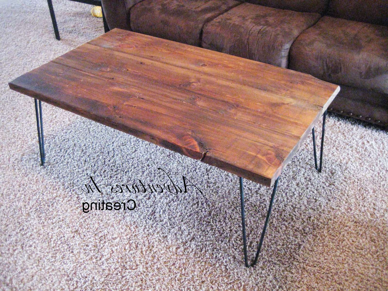 Newest Short Legs Coffee Tables In Coffee Tables : Make Your Own Hairpin Legs Lace Afghan Patterns (View 11 of 20)