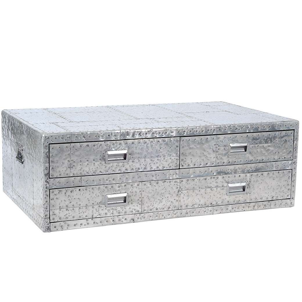 Newest Silver Trunk Coffee Tables Throughout Furniture: Awesome Picture Of Square Dark Brown Wicker Ottoman (View 13 of 20)
