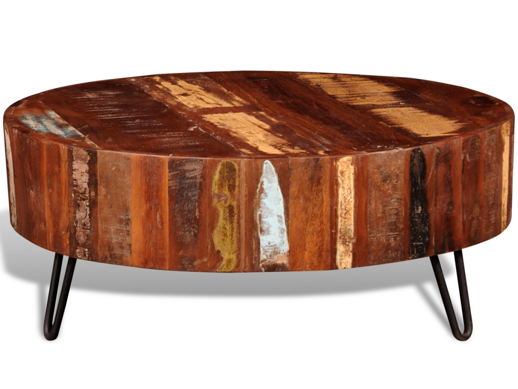 Newest Solid Round Coffee Tables Intended For Furniture: Round Wood Coffee Table Fresh Vidaxl Reclaimed Solid (View 4 of 20)