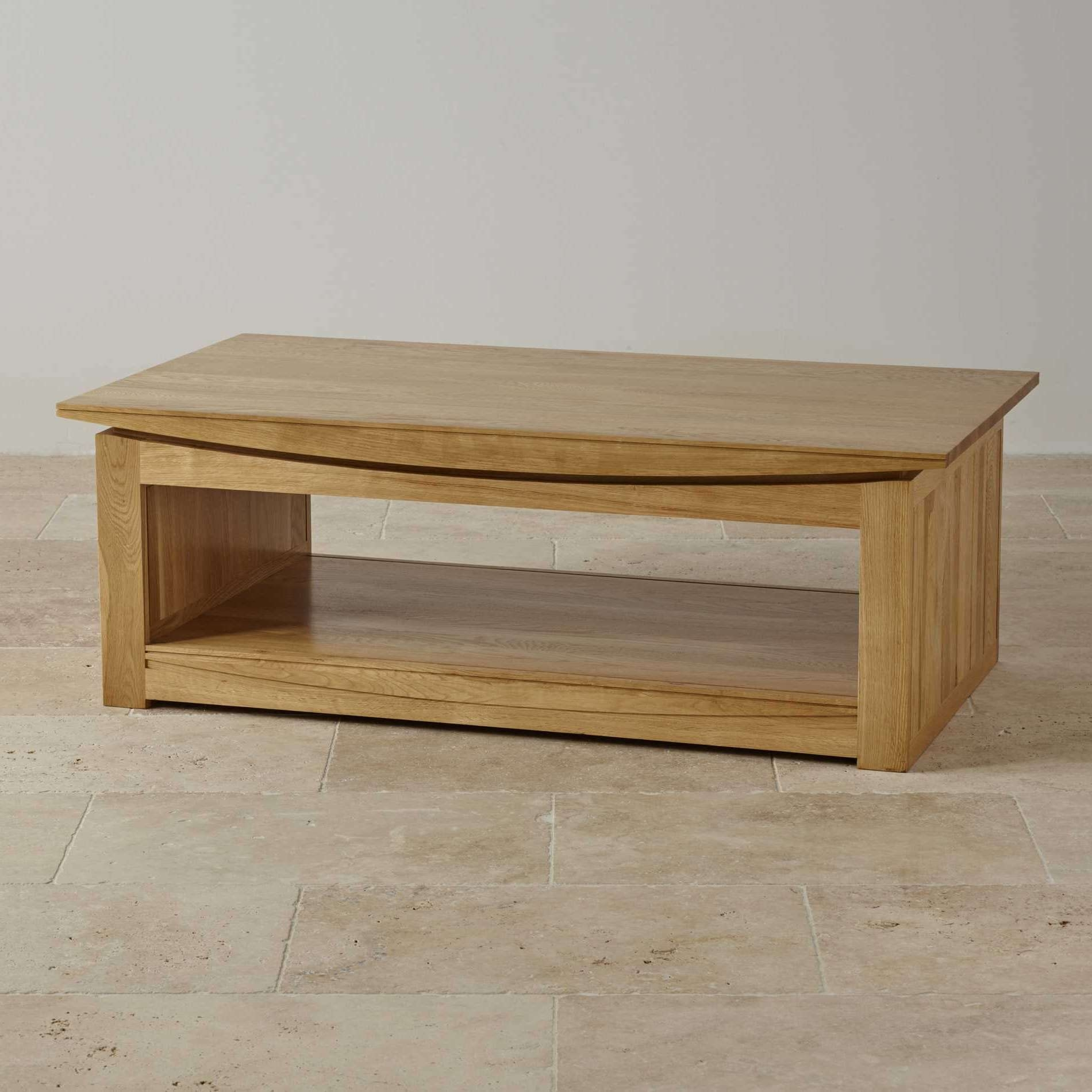 Newest Square Coffee Table Oak For Oak Furniture Land Coffee Table – Tokyo Natural Solid Oak Large (Gallery 19 of 20)