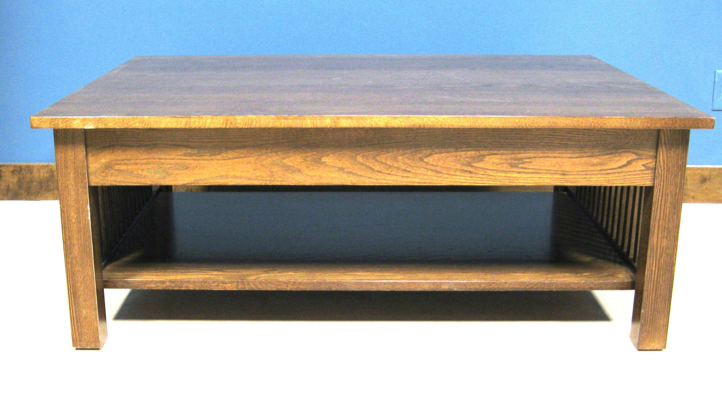 Newest Square Oak Coffee Tables Inside Square Coffee Table W/ Drawer (View 13 of 20)
