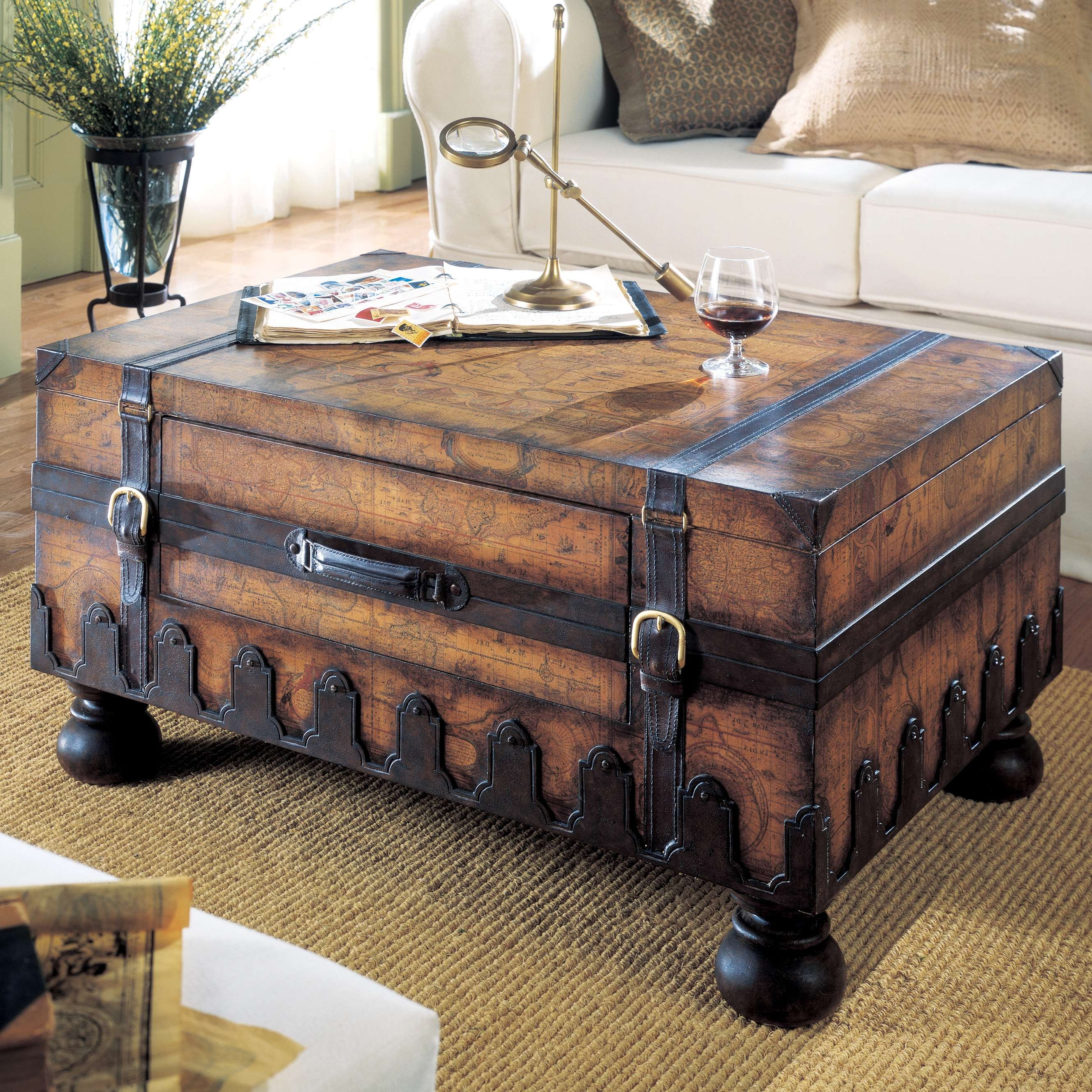 Newest Stainless Steel Trunk Coffee Tables Regarding Coffee Tables Ideas: Trunk Coffee Tables With Hidden Storage (Gallery 13 of 20)