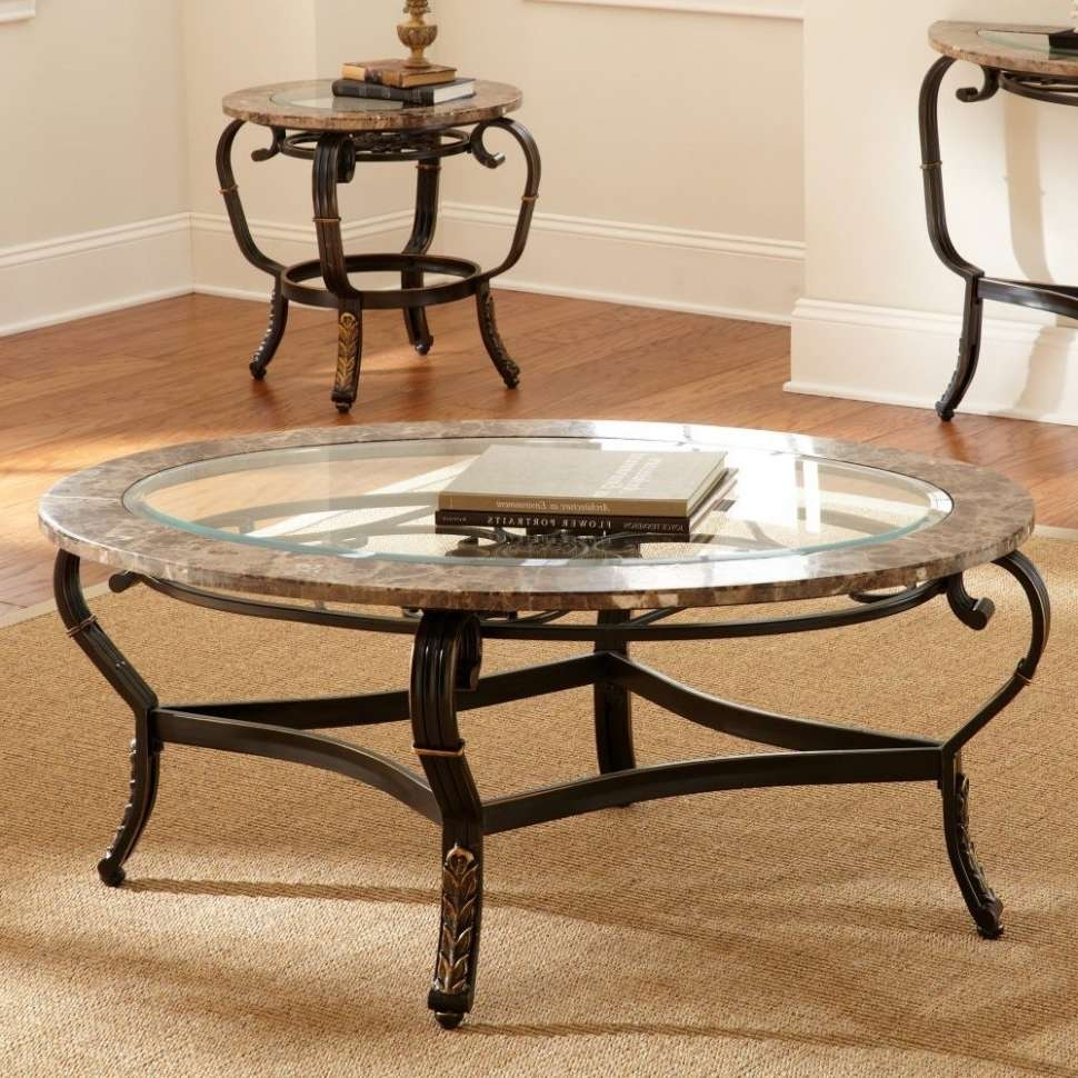 Newest Stone And Glass Coffee Tables In Coffee Tables : Stylish Dark Tempered Oval Glass Coffee Table (View 6 of 20)