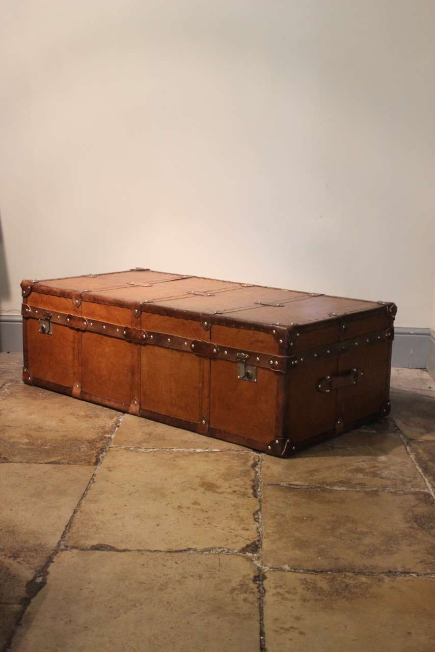 Newest Very Large Coffee Tables Throughout Very Large Bespoke Tan Leather Trunk / Coffee Table – Bespoke (View 18 of 20)