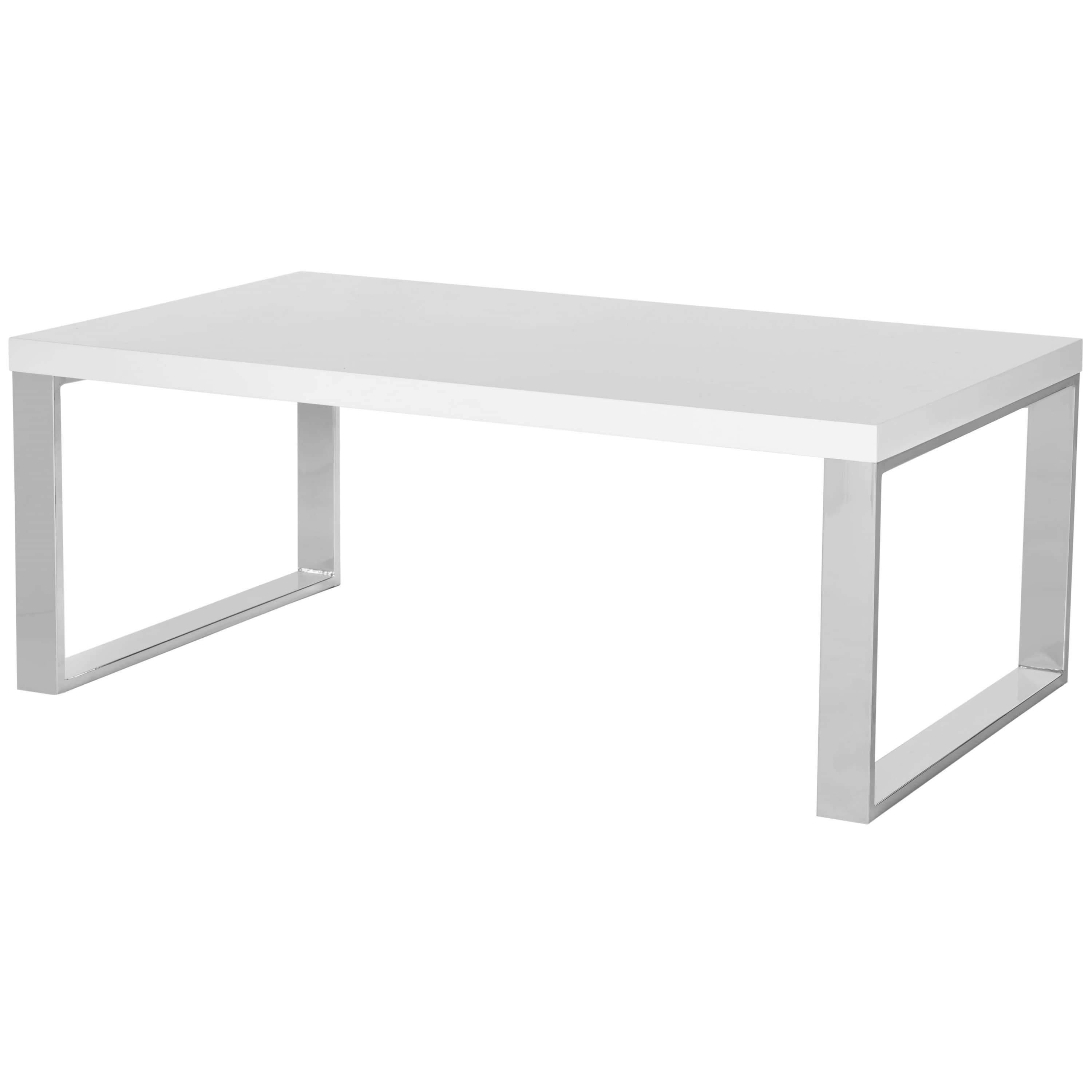 Newest White And Chrome Coffee Tables Intended For Safavieh Rockford White/ Chrome Coffee Table – Free Shipping Today (View 14 of 20)
