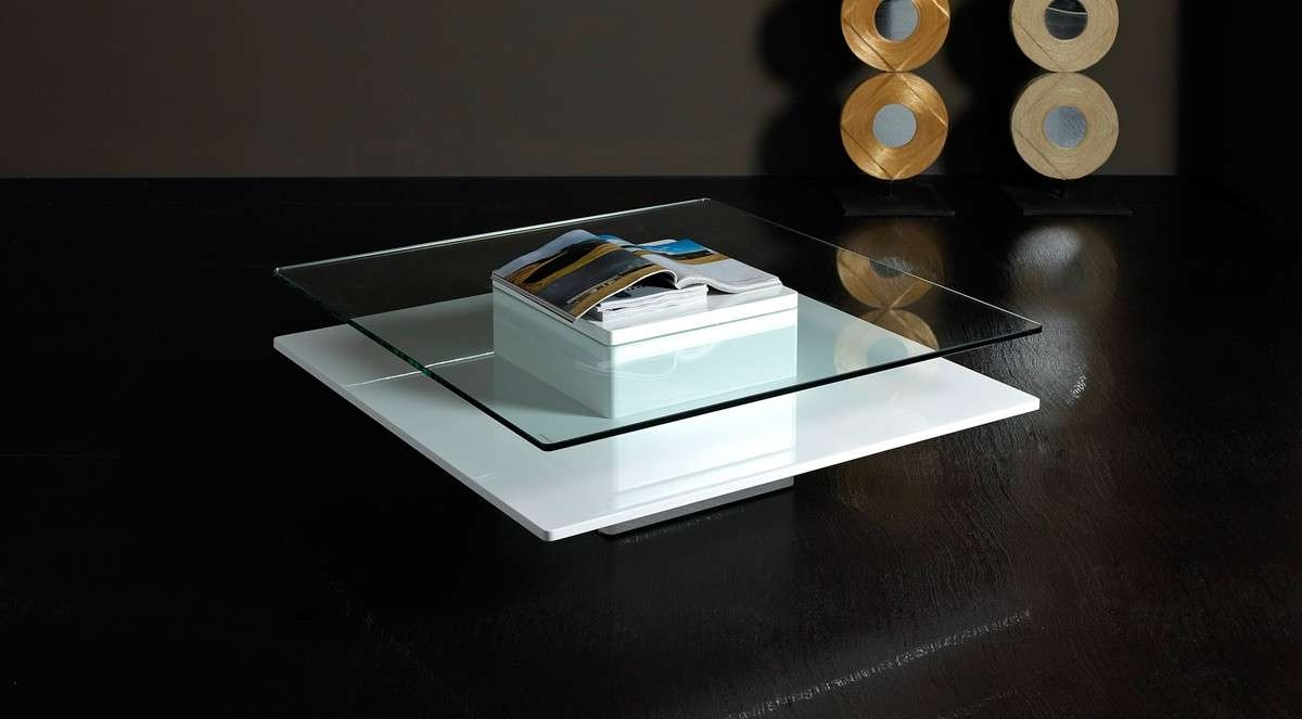Newest White And Glass Coffee Tables Pertaining To Emulsion – Modern White Glass Coffee Table (View 10 of 20)