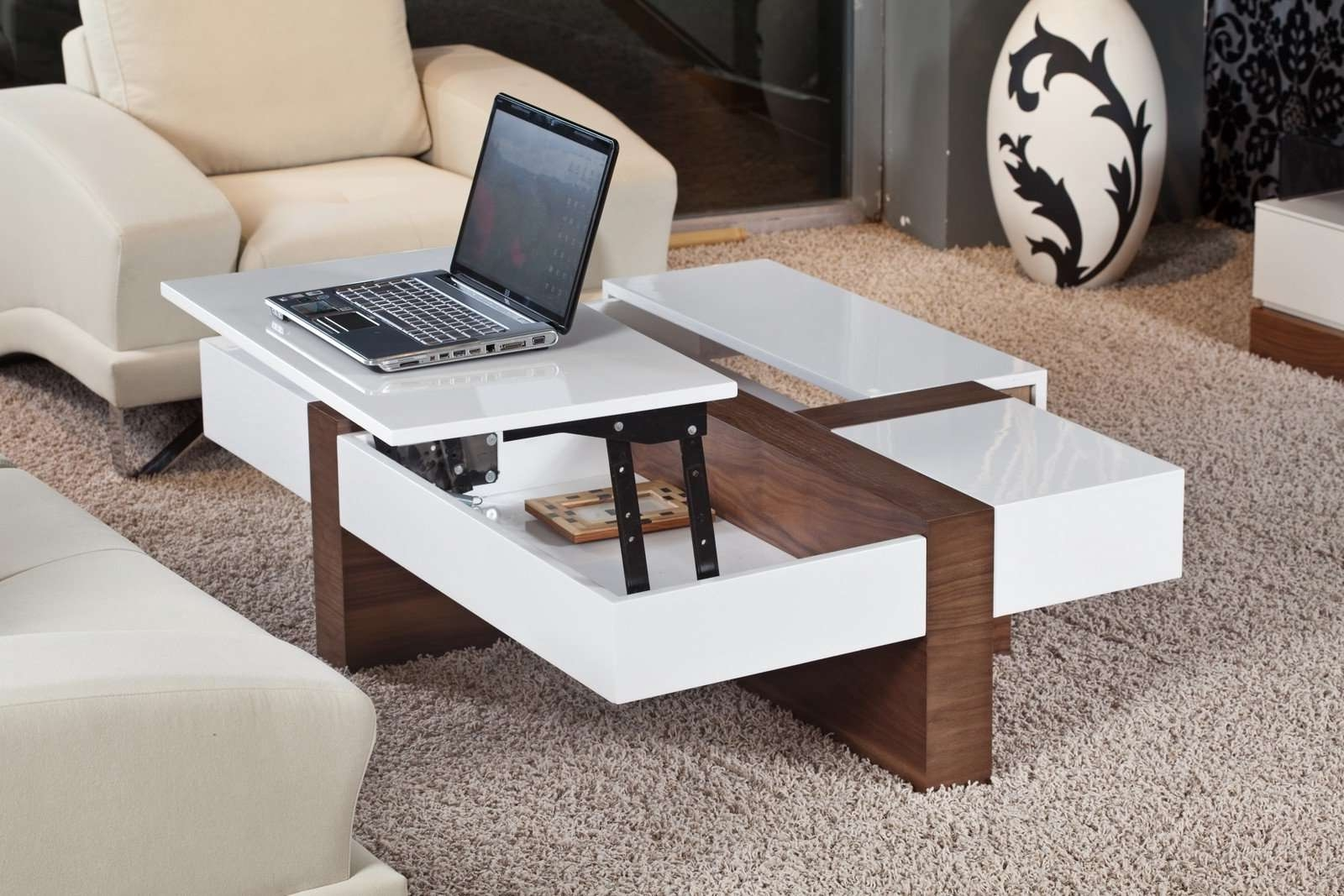 Newest White Coffee Tables With Storage Pertaining To Wood And White Coffee Tables With Storage — The Wooden Houses (View 15 of 20)
