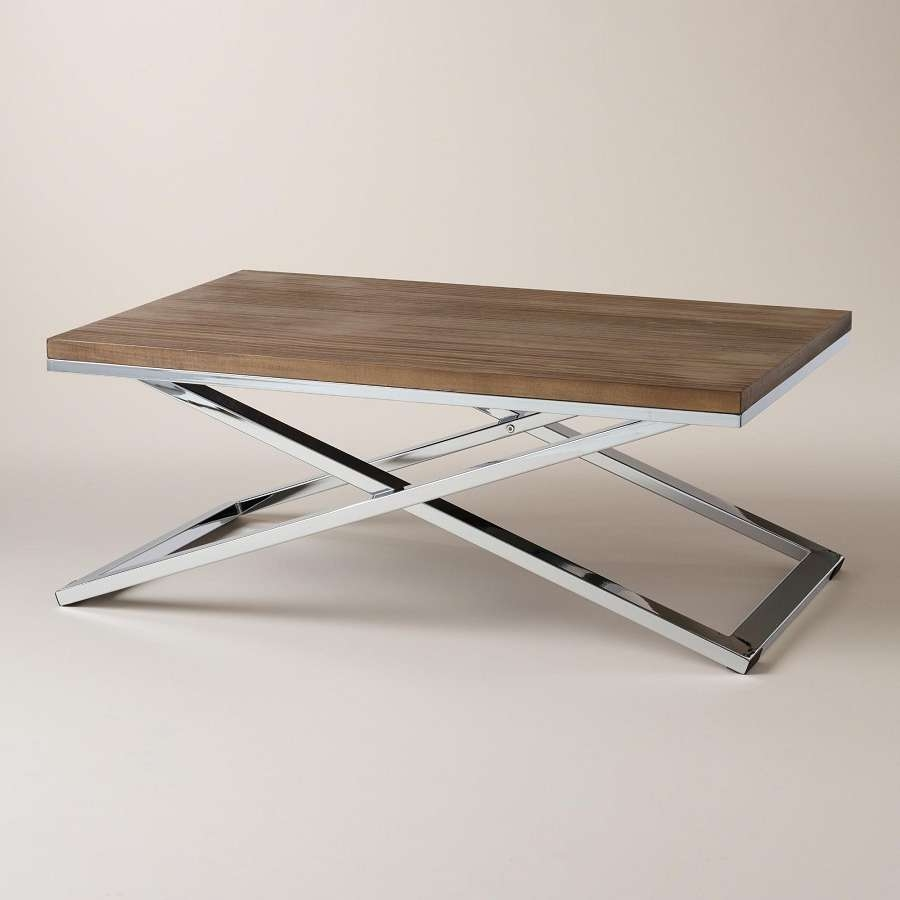 Newest Wood Chrome Coffee Tables Inside Design Wood And Chrome Coffee Tables — Decor & Furniture (View 14 of 20)