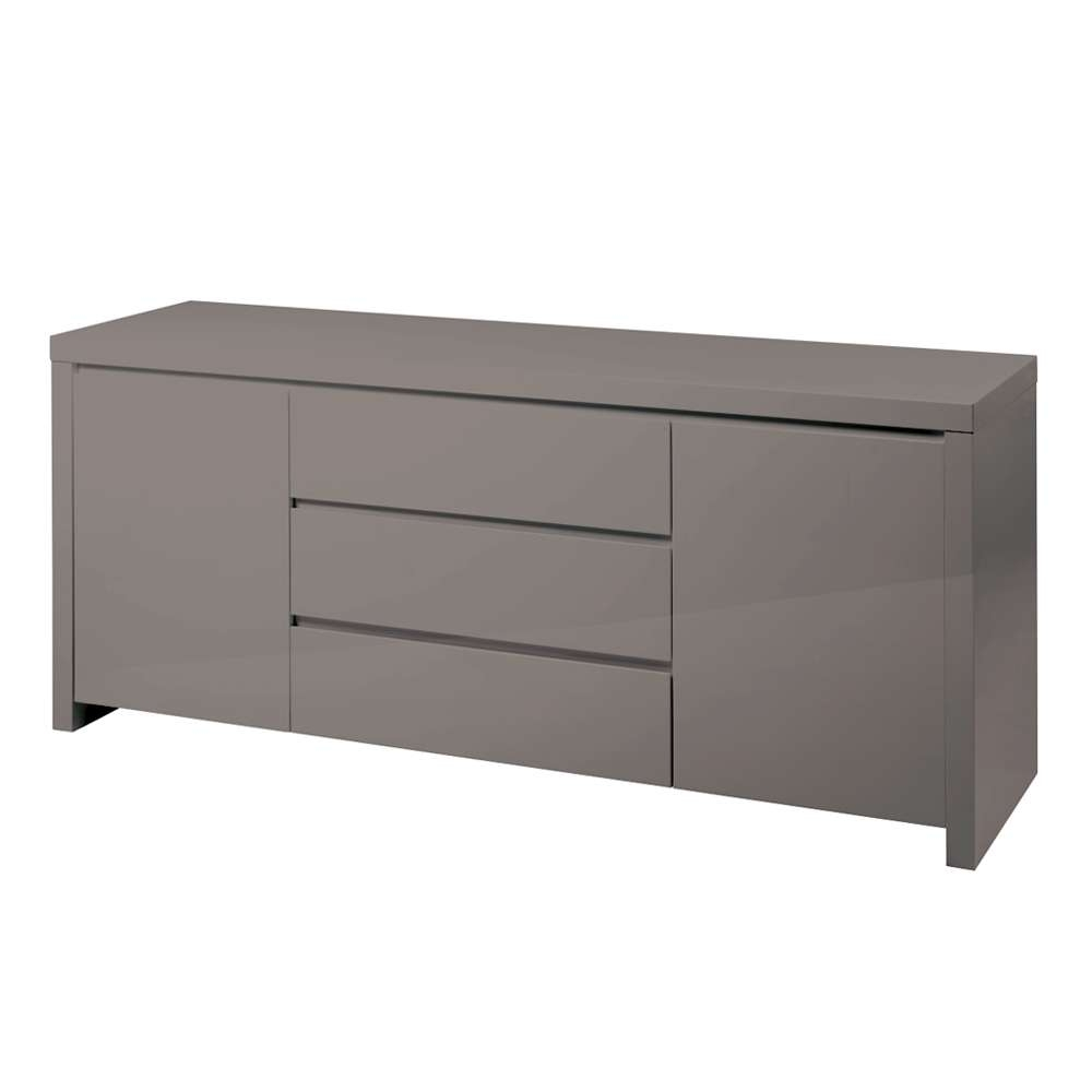 Newton Storage Sideboard Stone – Dwell Throughout High Gloss Grey Sideboards (View 7 of 20)