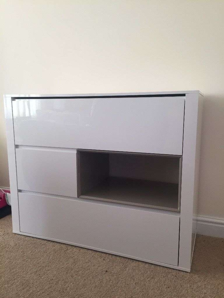 Next White High Gloss Sideboard | In Chippenham, Wiltshire | Gumtree In Next Black Gloss Sideboards (View 5 of 20)