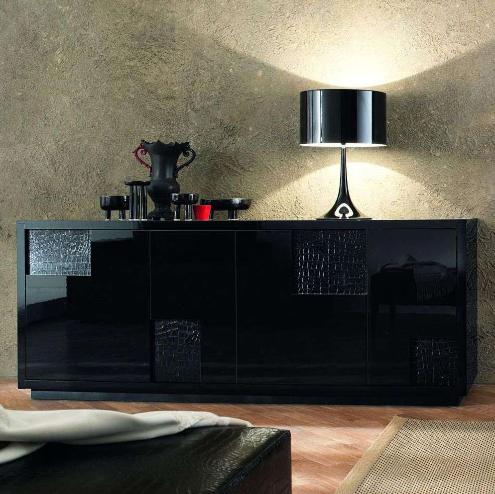 Nightfly Black Buffet Sideboard — New Decoration : Romantic Dining Within Black Buffet Sideboards (View 14 of 20)