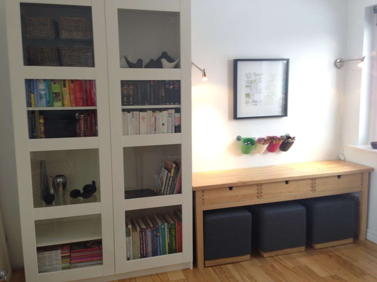 Norden Sofa Table Turned Kids' Creativity Centre – Ikea Hackers Within Ikea Norden Sideboards (View 16 of 20)