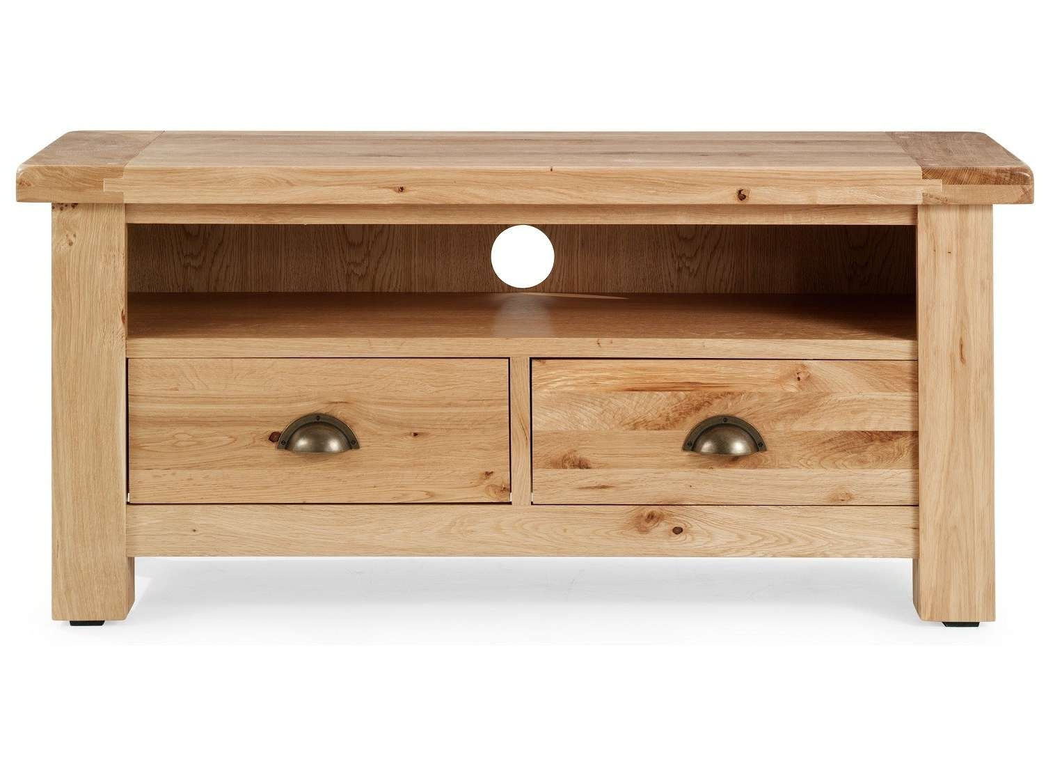 Normandy Rustic French Oak Tv Cabinet | Oak Furniture Uk Within Light Oak Corner Tv Cabinets (View 14 of 20)