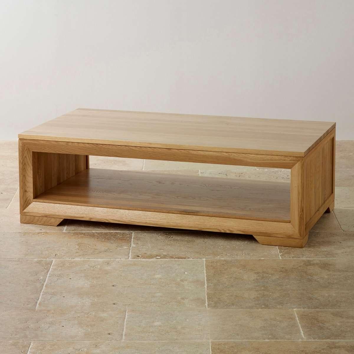 Oak Coffee Table Inside Newest Low Oak Coffee Tables (Gallery 10 of 20)