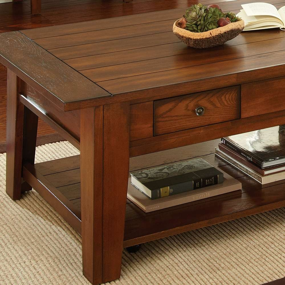 Oak Coffee Table Set Luxury Dark Oak Finish 3 Piece Coffee Table Regarding Best And Newest Oak Coffee Table Sets (View 16 of 20)