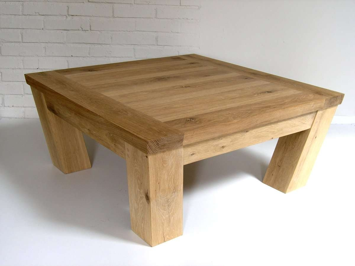 Oak Coffee Tables Living Room Furniture Land Square Fresco Natural For 2018 Square Coffee Table Oak (View 6 of 20)