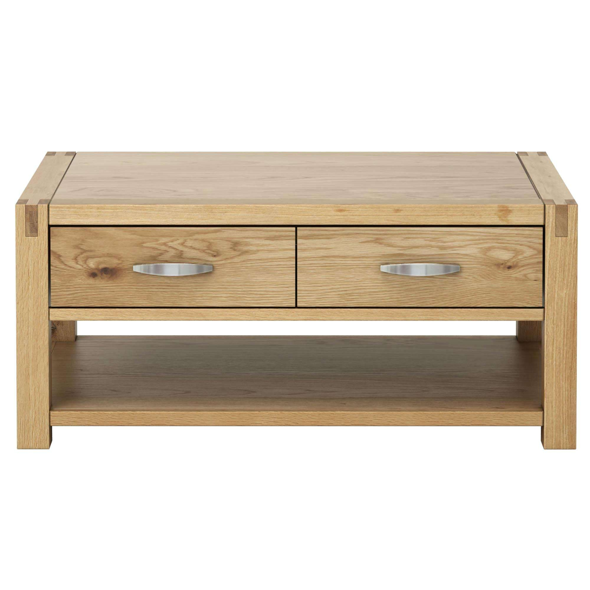 Oak Coffee Tables Oak Beam Coffee Table Ireland – Fieldofscreams Within Best And Newest Oak Coffee Table With Drawers (View 16 of 20)